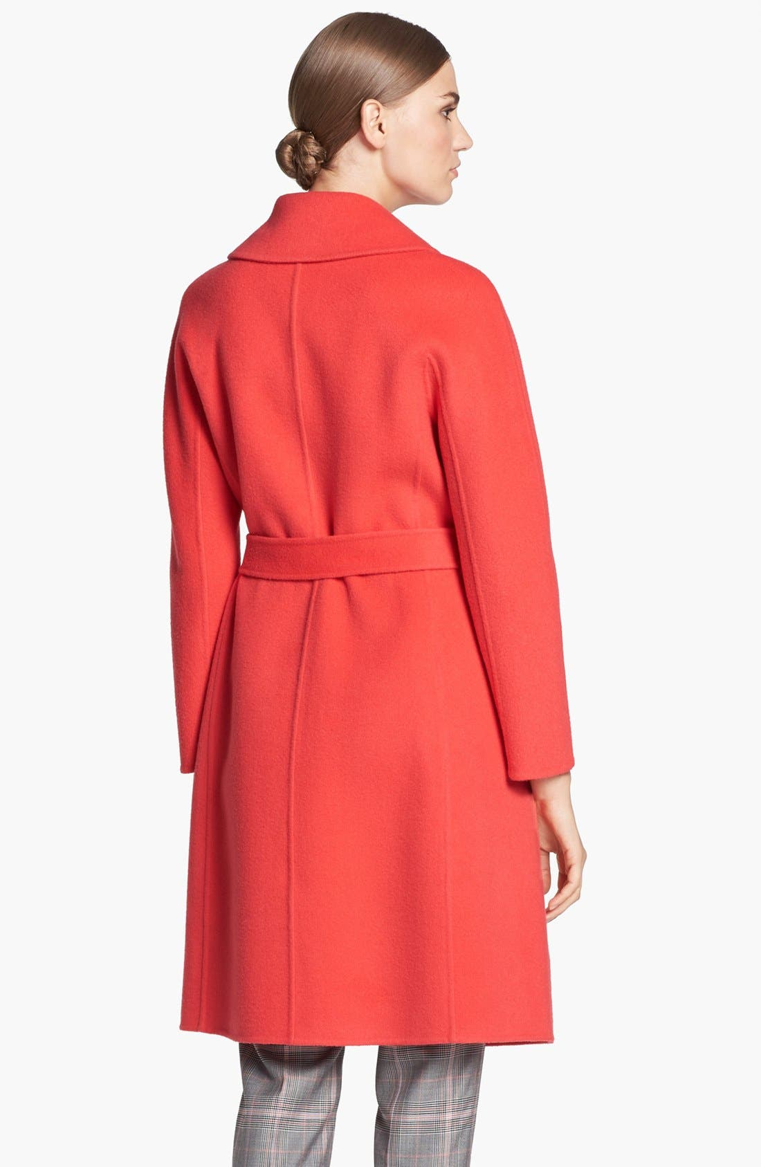 Alternate Image 4  - St. John Collection Dolman Sleeve Double Face Coat