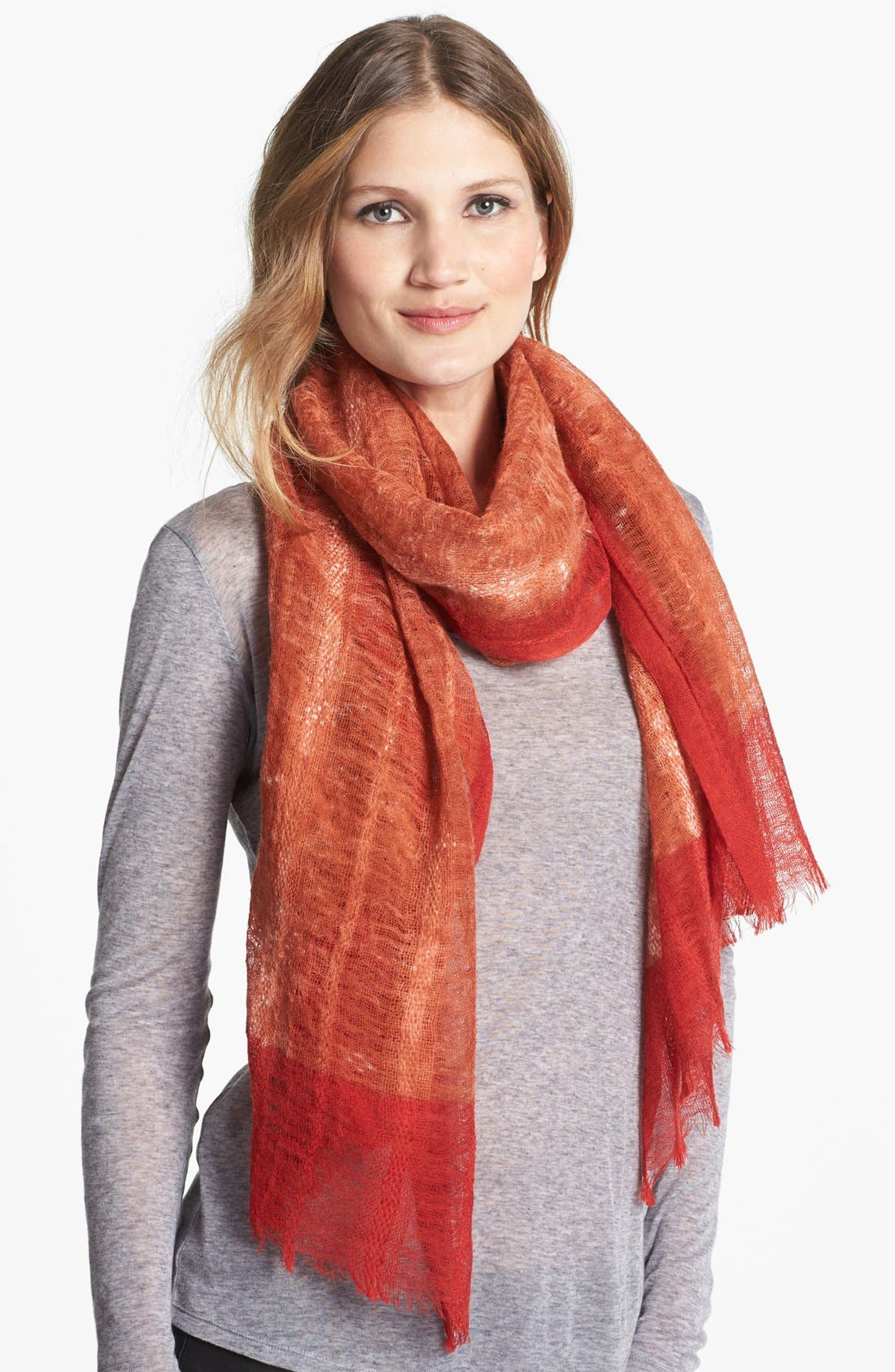 Main Image - Eileen Fisher Two-Tone Wool Scarf (Regular & Petite)