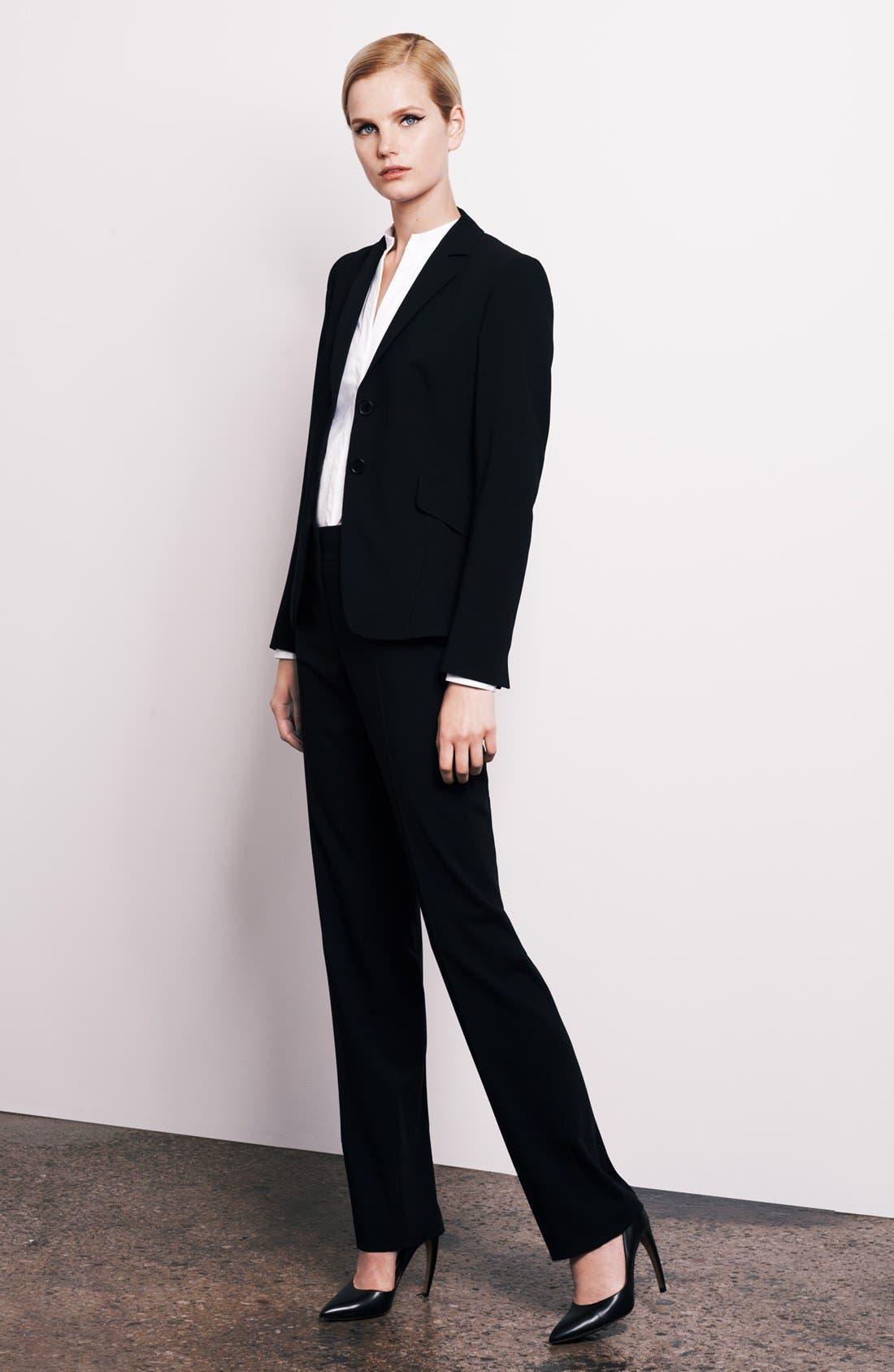 Alternate Image 4  - Akris punto 'Madison' Straight Leg Wool Trousers