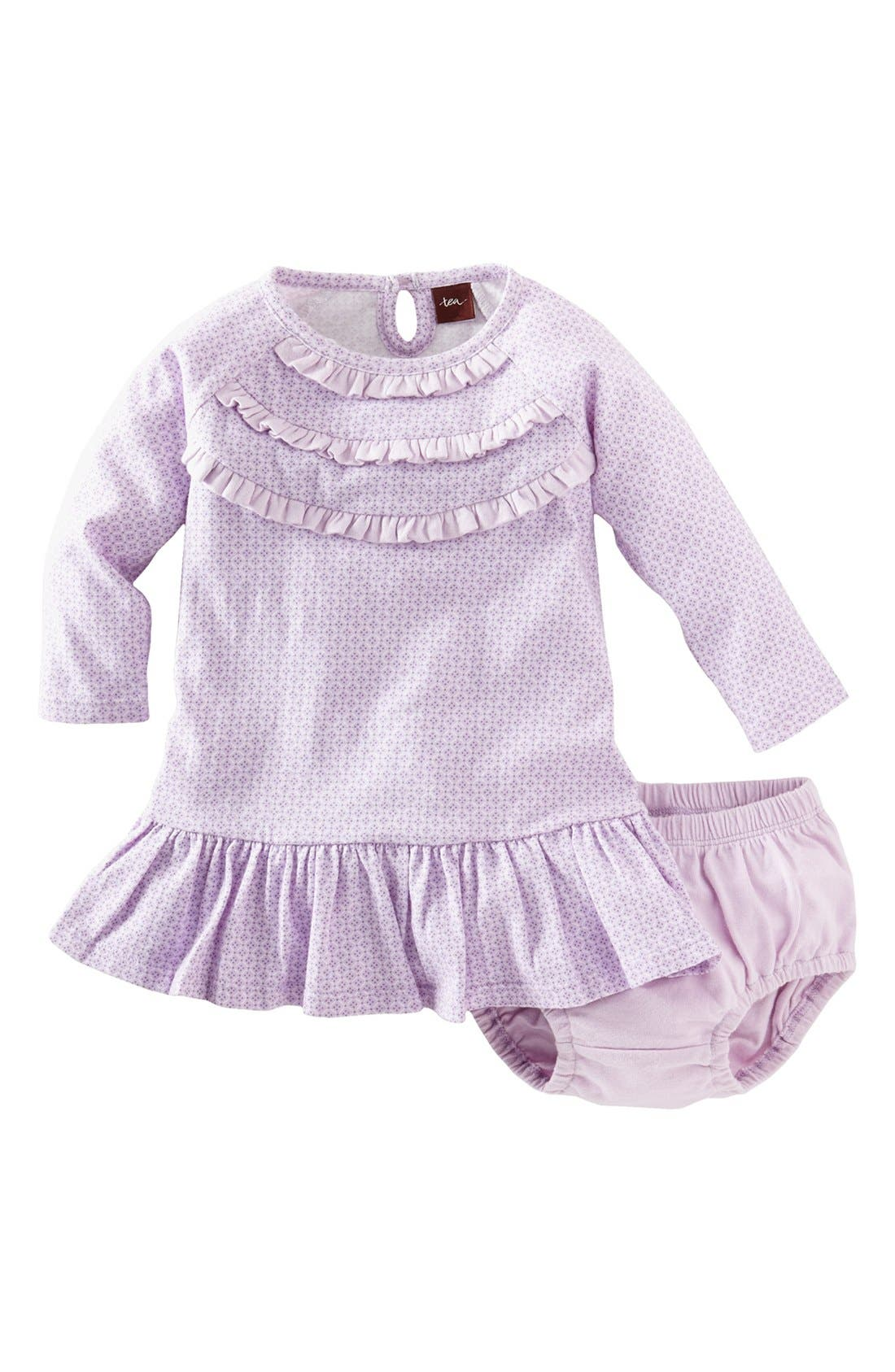 Main Image - Tea Collection 'Diamond' Dress & Bloomers (Baby Girls)