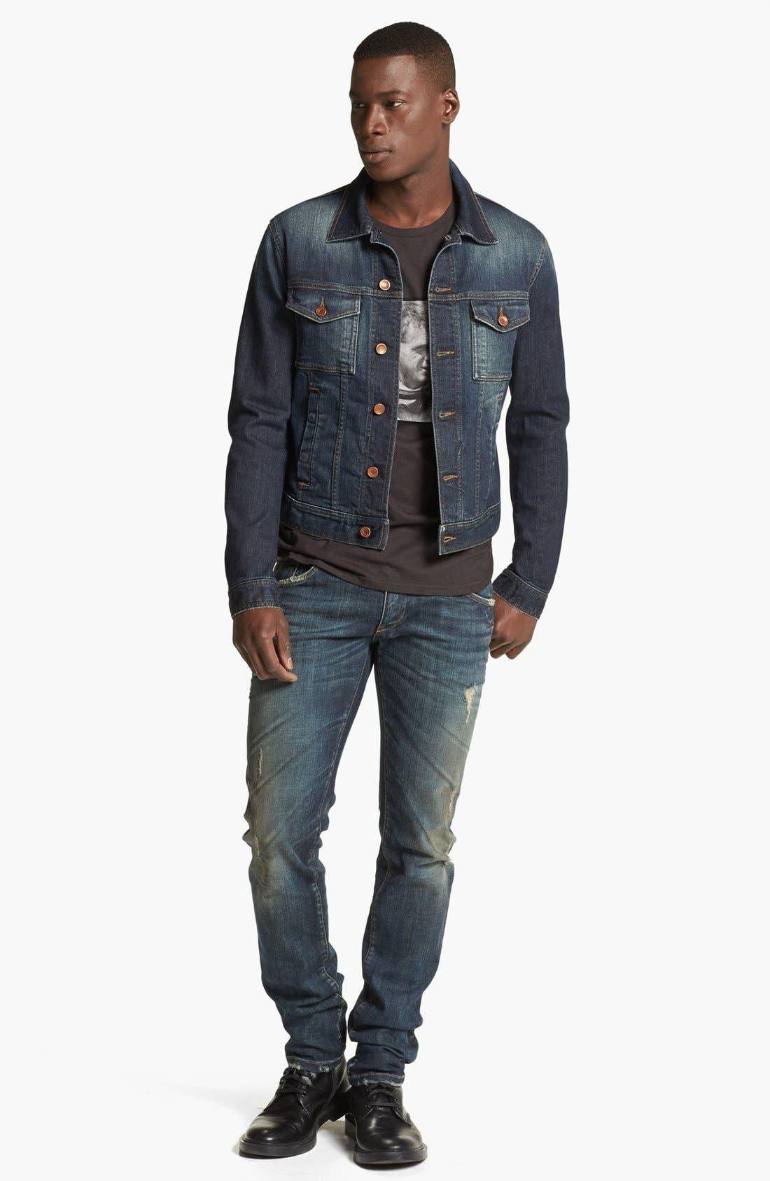Alternate Image 4  - Dolce&Gabbana Dark Denim Jacket