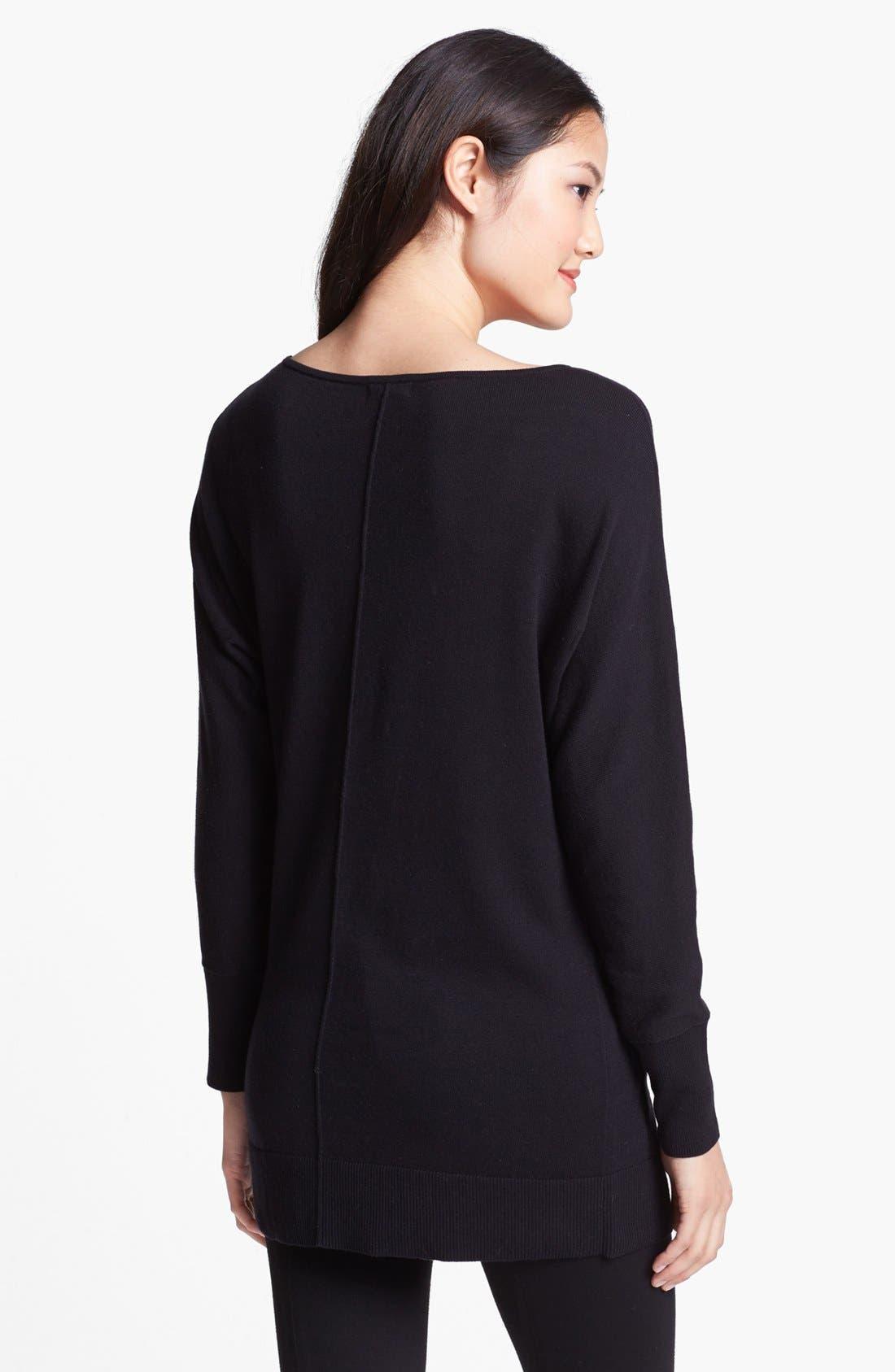 Alternate Image 2  - Halogen® Dolman Sleeve Tunic Sweater (Regular & Petite)