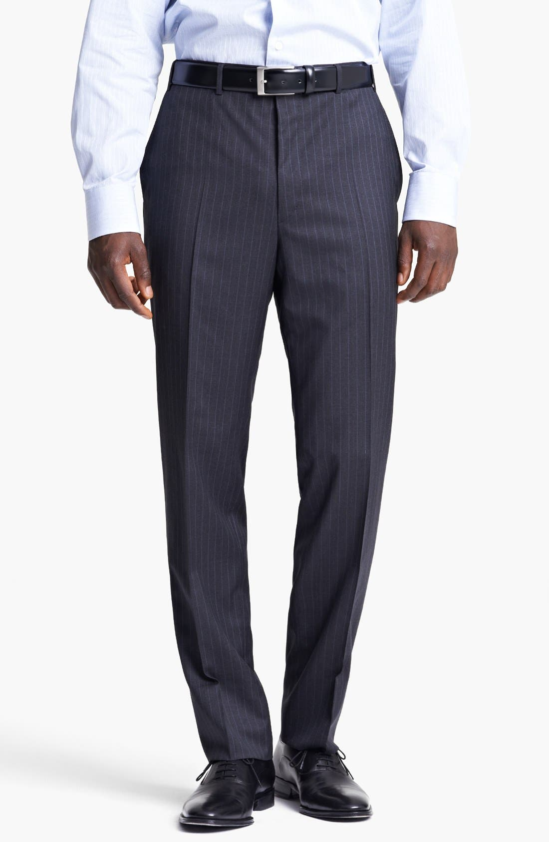 Alternate Image 5  - Canali Classic Fit Stripe Suit
