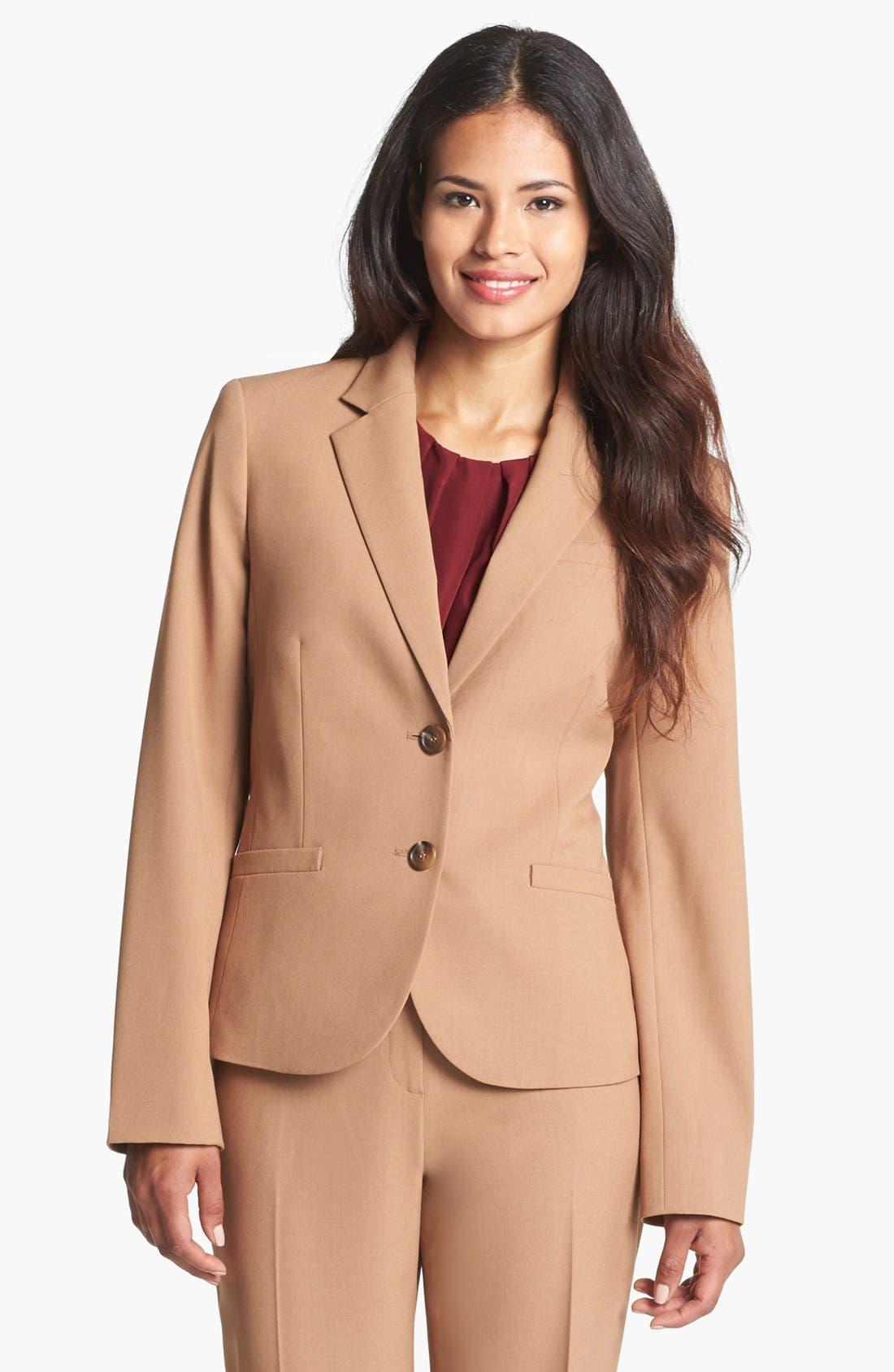 Alternate Image 1 Selected - Jones New York 'Olivia - Seasonless Stretch' Jacket (Regular & Petite)