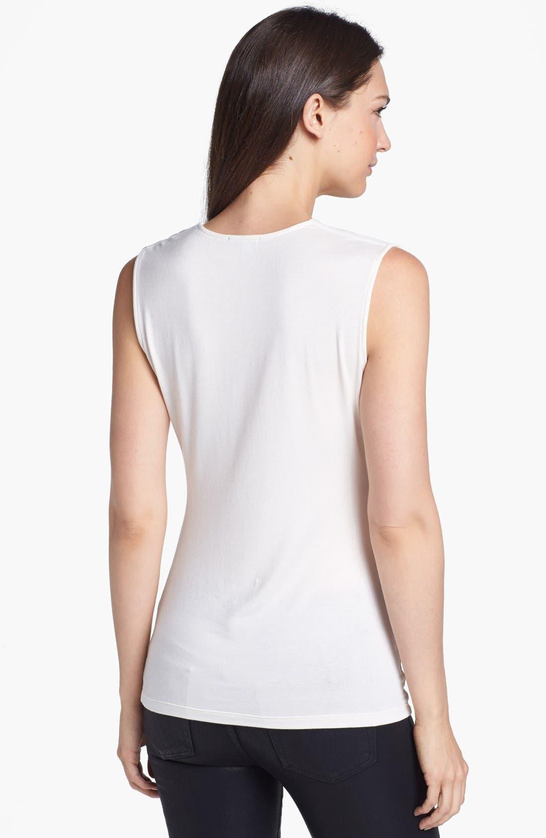 Alternate Image 2  - Halogen® Draped Stretch Modal Top (Regular & Petite)