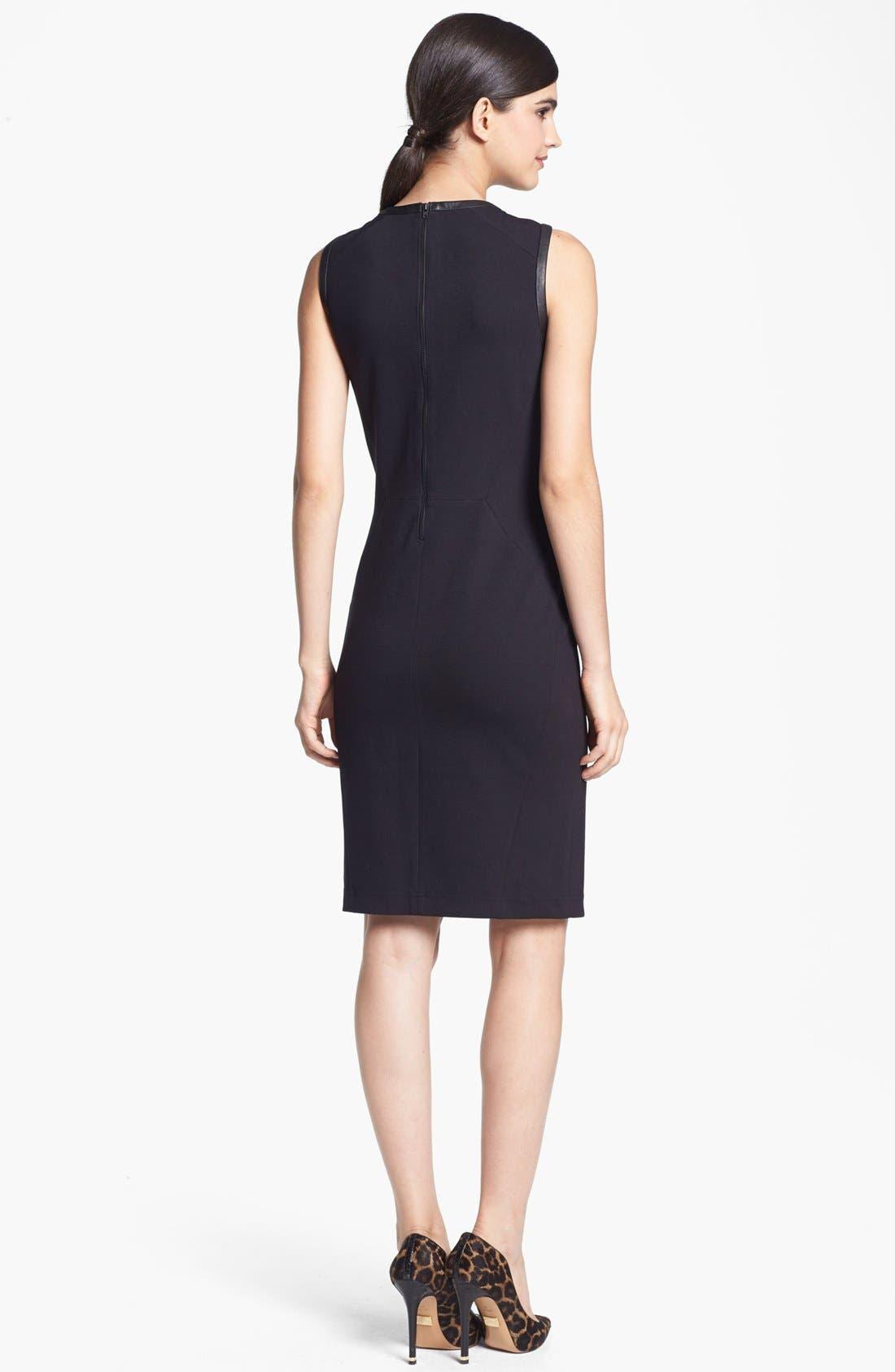 Alternate Image 2  - Trouvé Leather Front Body-Con Dress