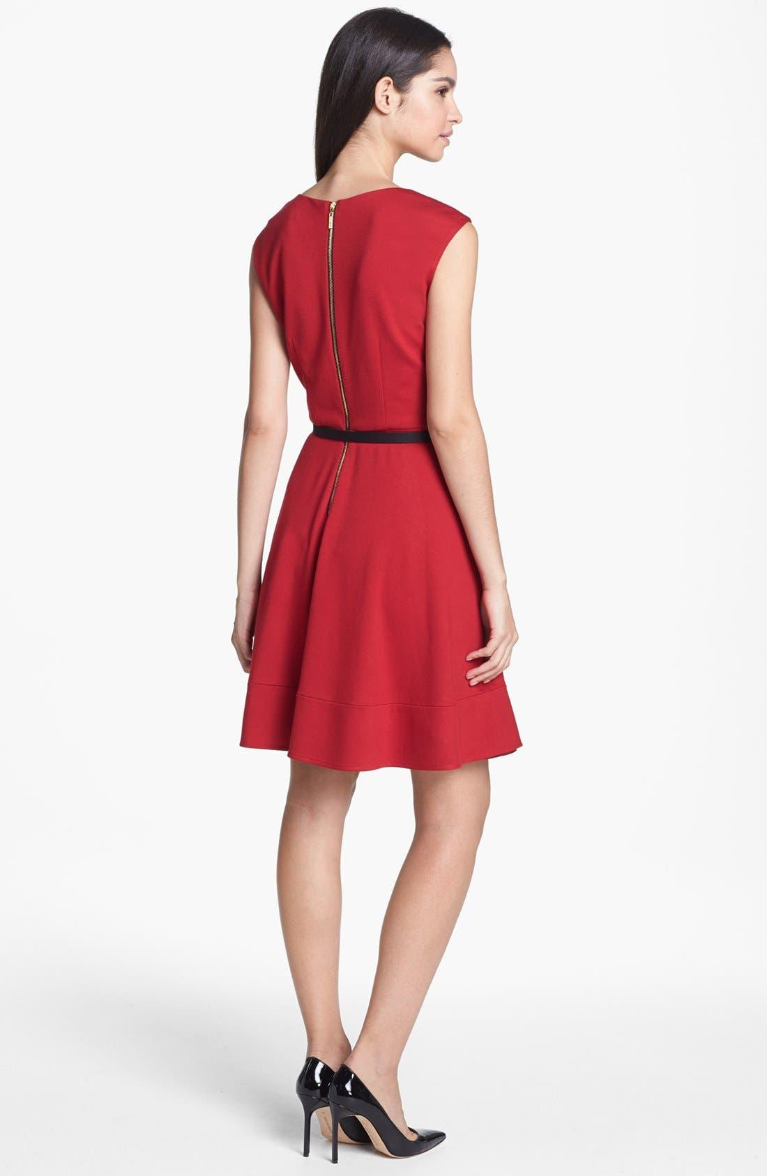 Alternate Image 2  - Eliza J Twist Neck Fit & Flare Dress