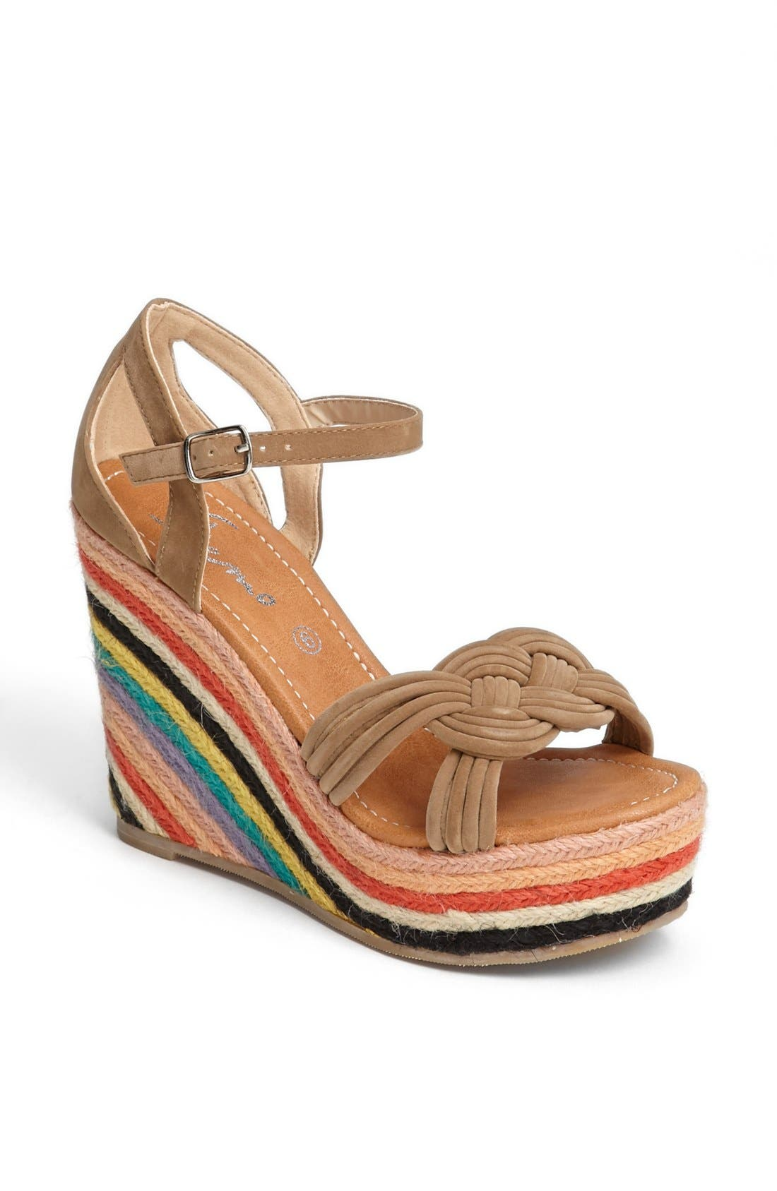 Alternate Image 1 Selected - Skemo 'Bow' Wedge Sandal
