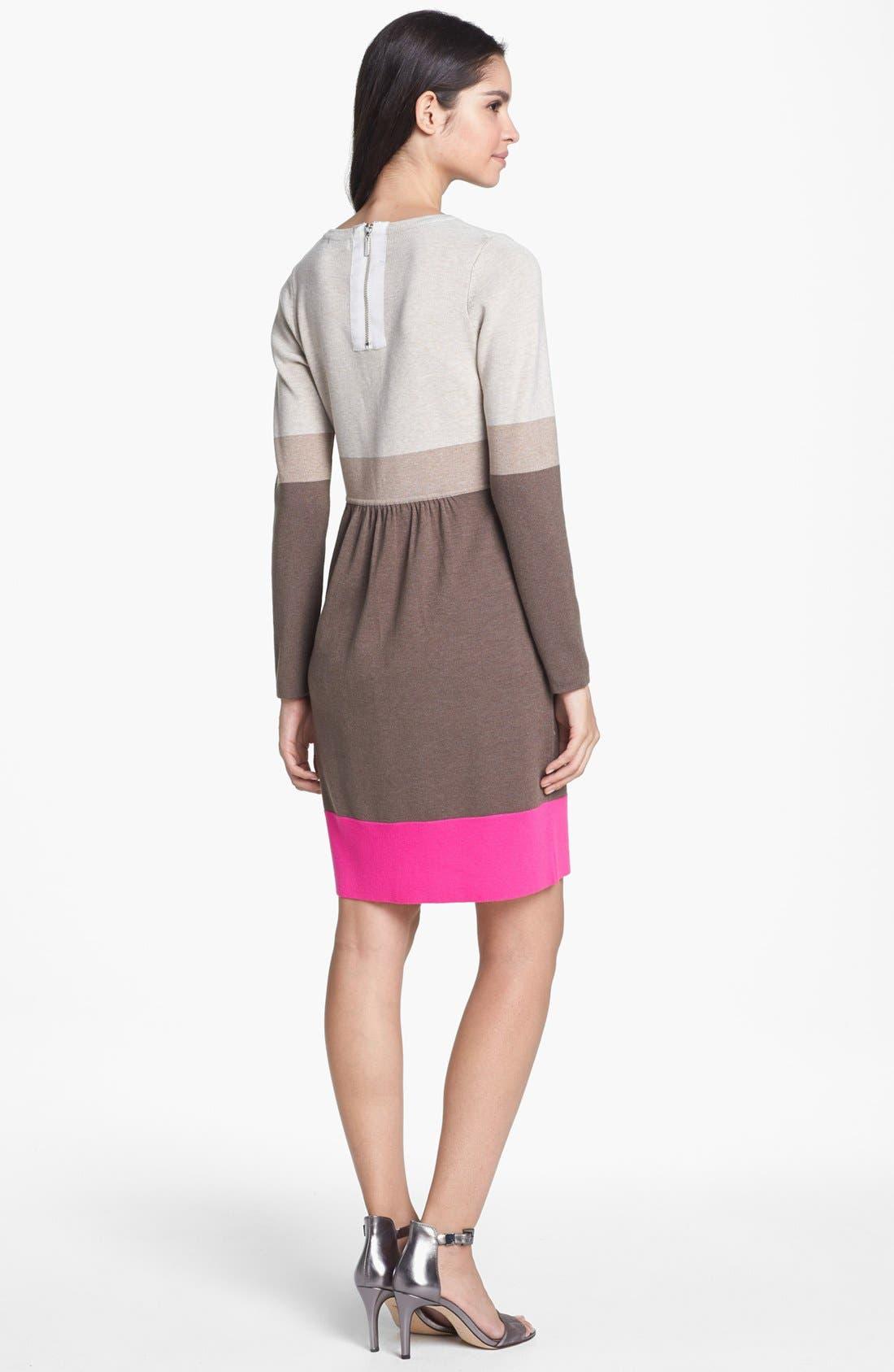 Alternate Image 2  - Eliza J Colorblock Sweater Dress