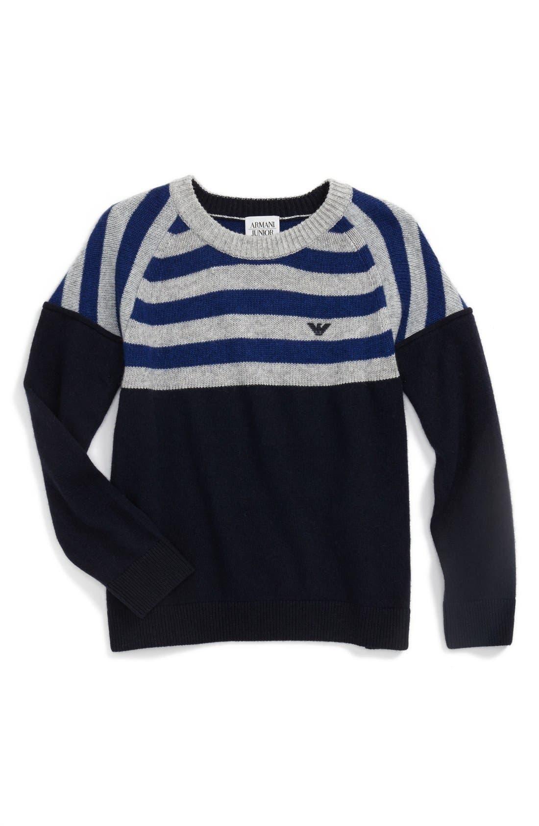 Main Image - Armani Junior Stripe Sweater (Little Boys & Big Boys)