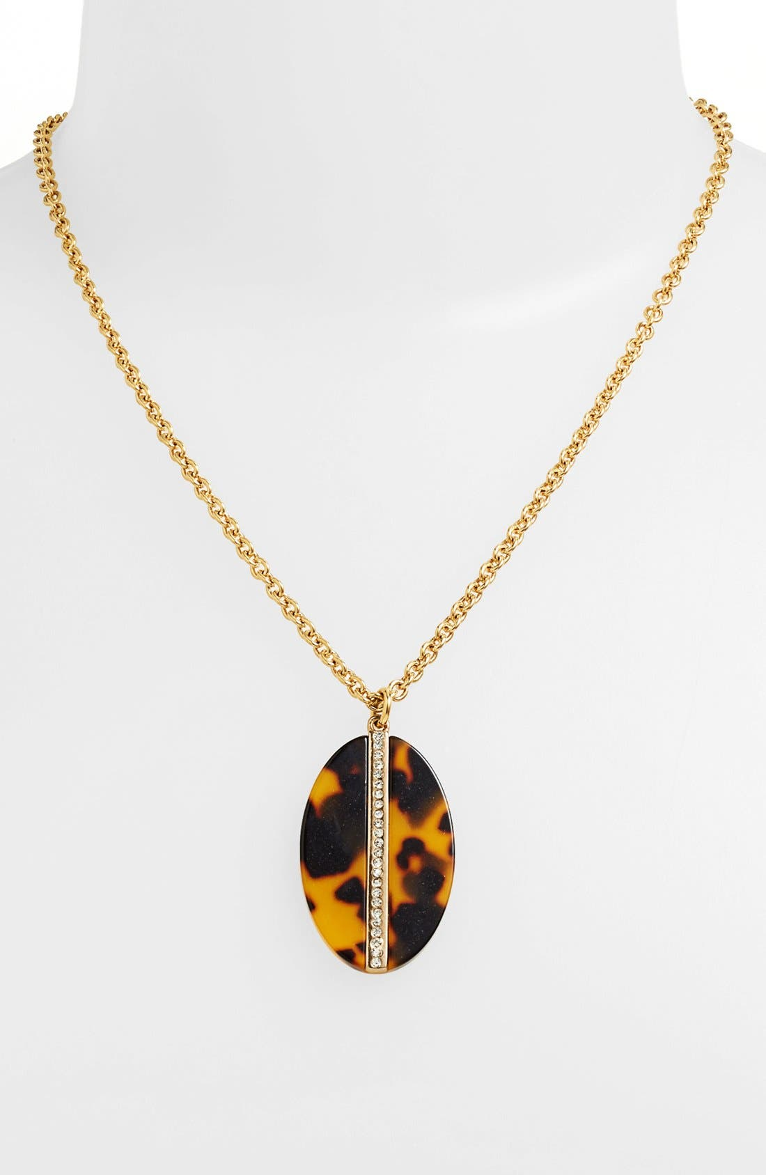 Alternate Image 1 Selected - Lauren Ralph Lauren Oval Pendant Necklace