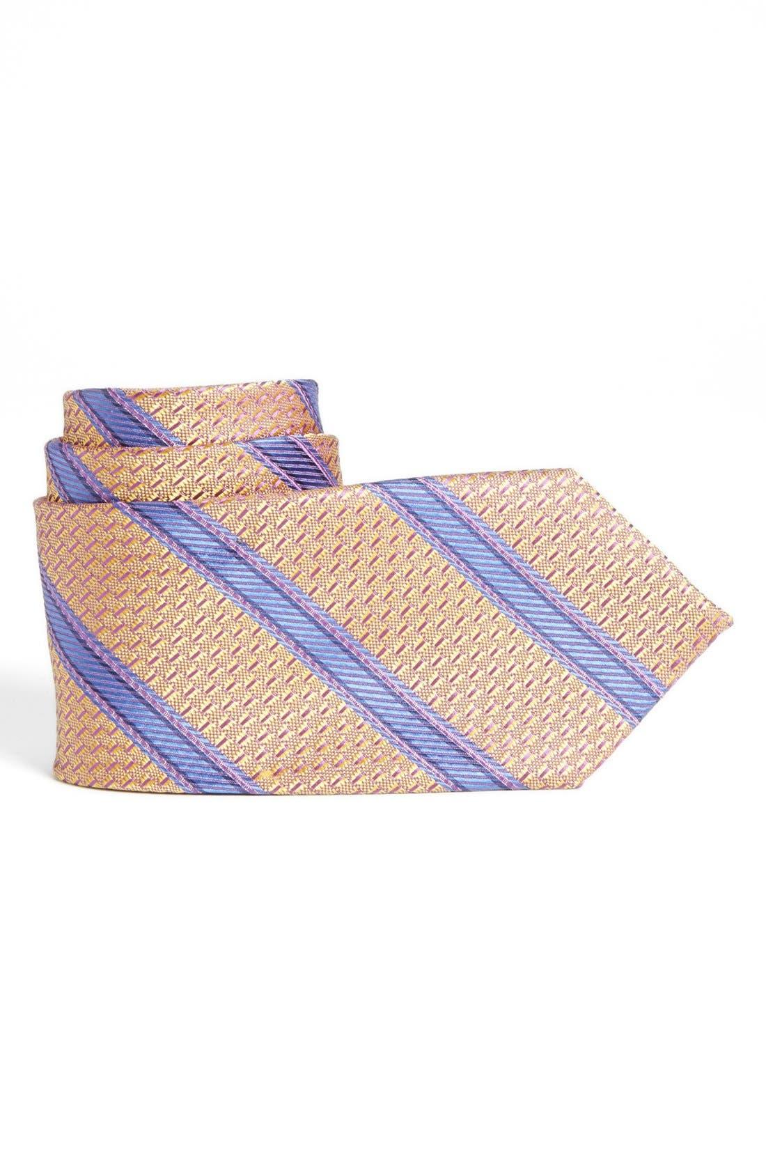 Alternate Image 1 Selected - Joseph Abboud Stripe Woven Silk Tie (Boys)