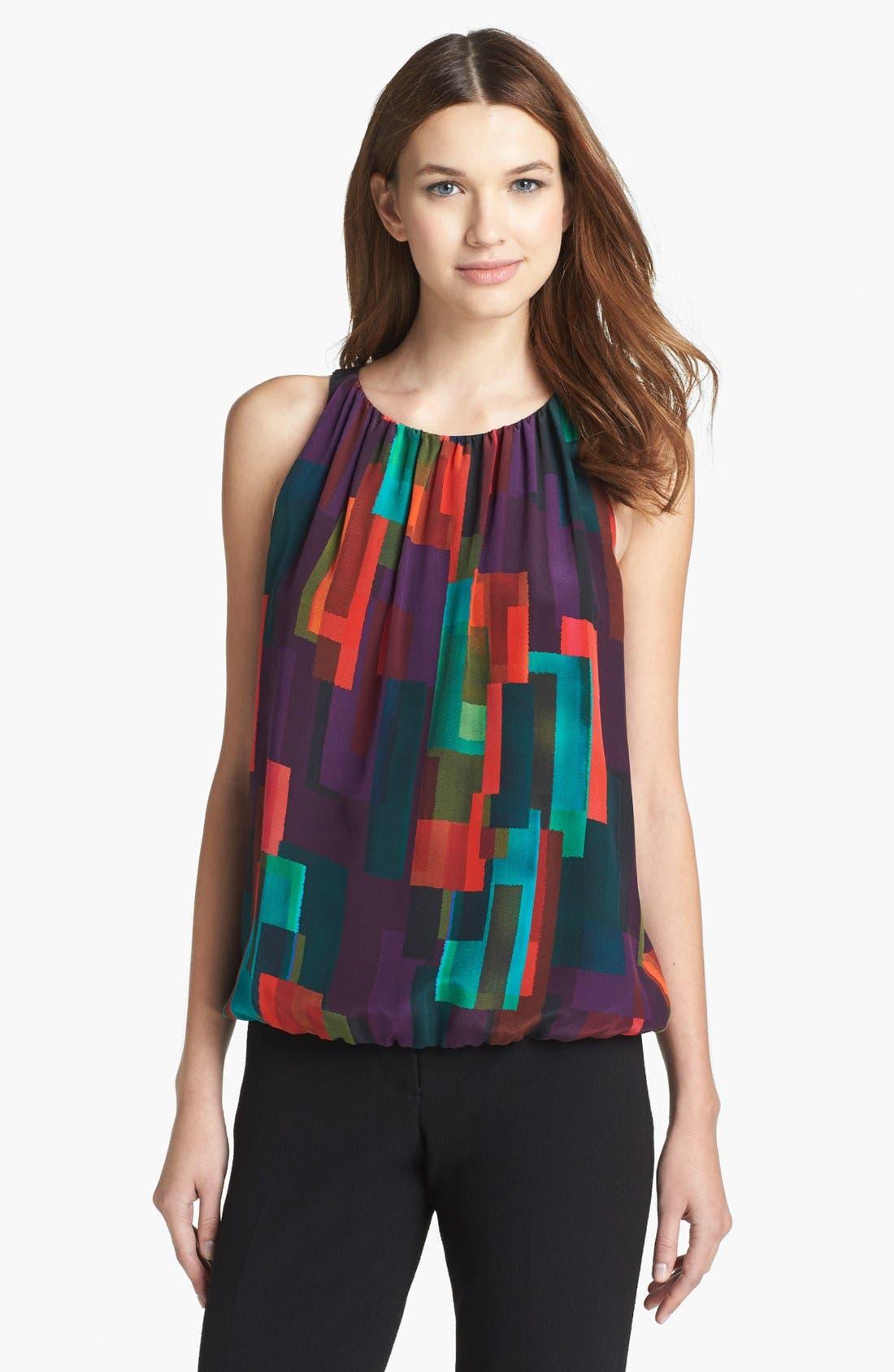 Alternate Image 1 Selected - Trina Turk 'Bella' Print Silk Blouse