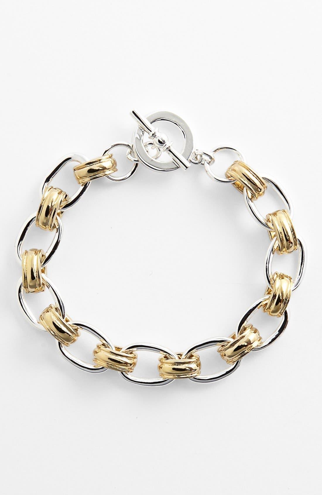 Main Image - Lauren Ralph Lauren Cable Link Toggle Bracelet