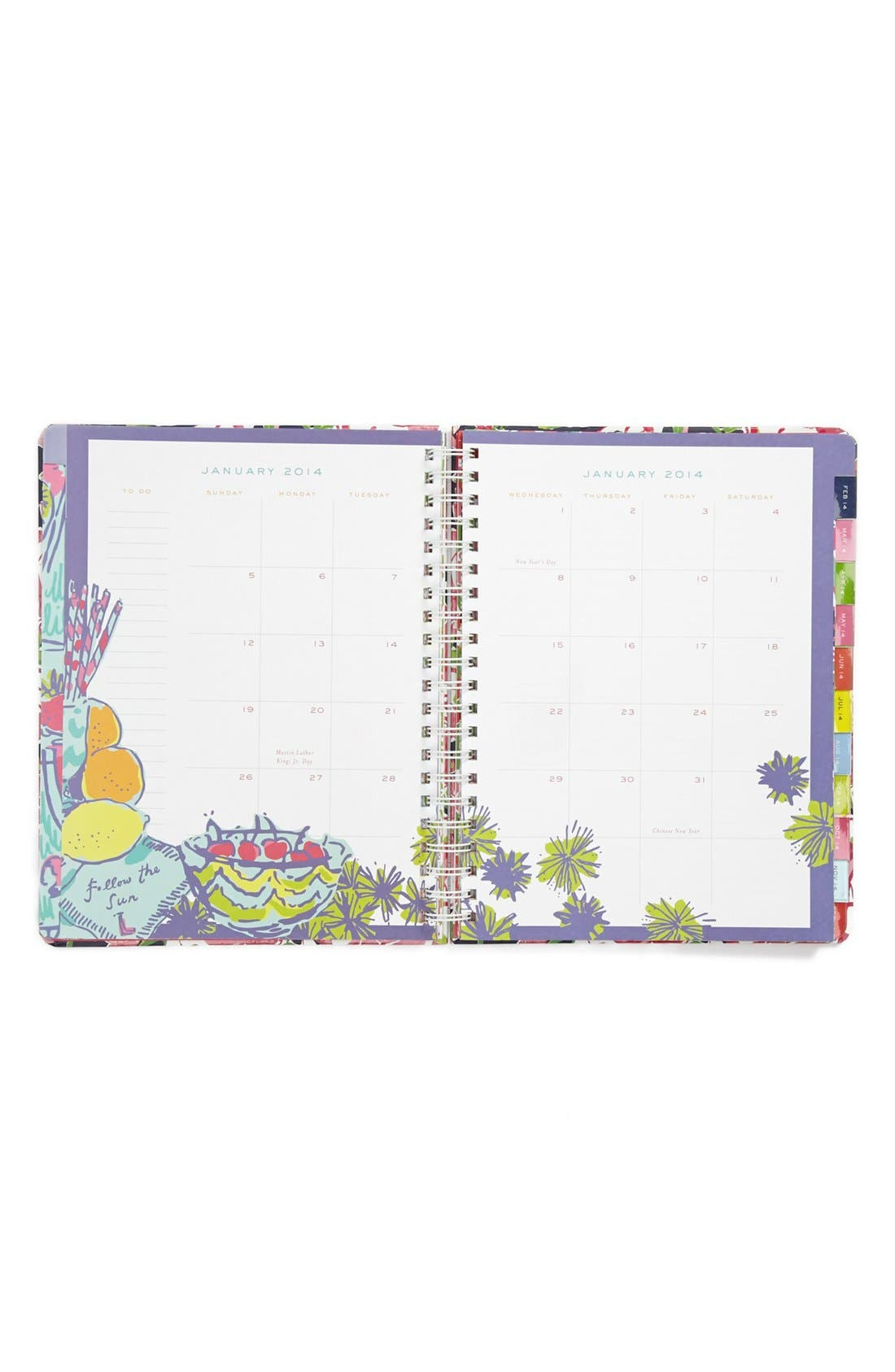 Alternate Image 2  - Lilly Pulitzer® Floral Print Jumbo Agenda
