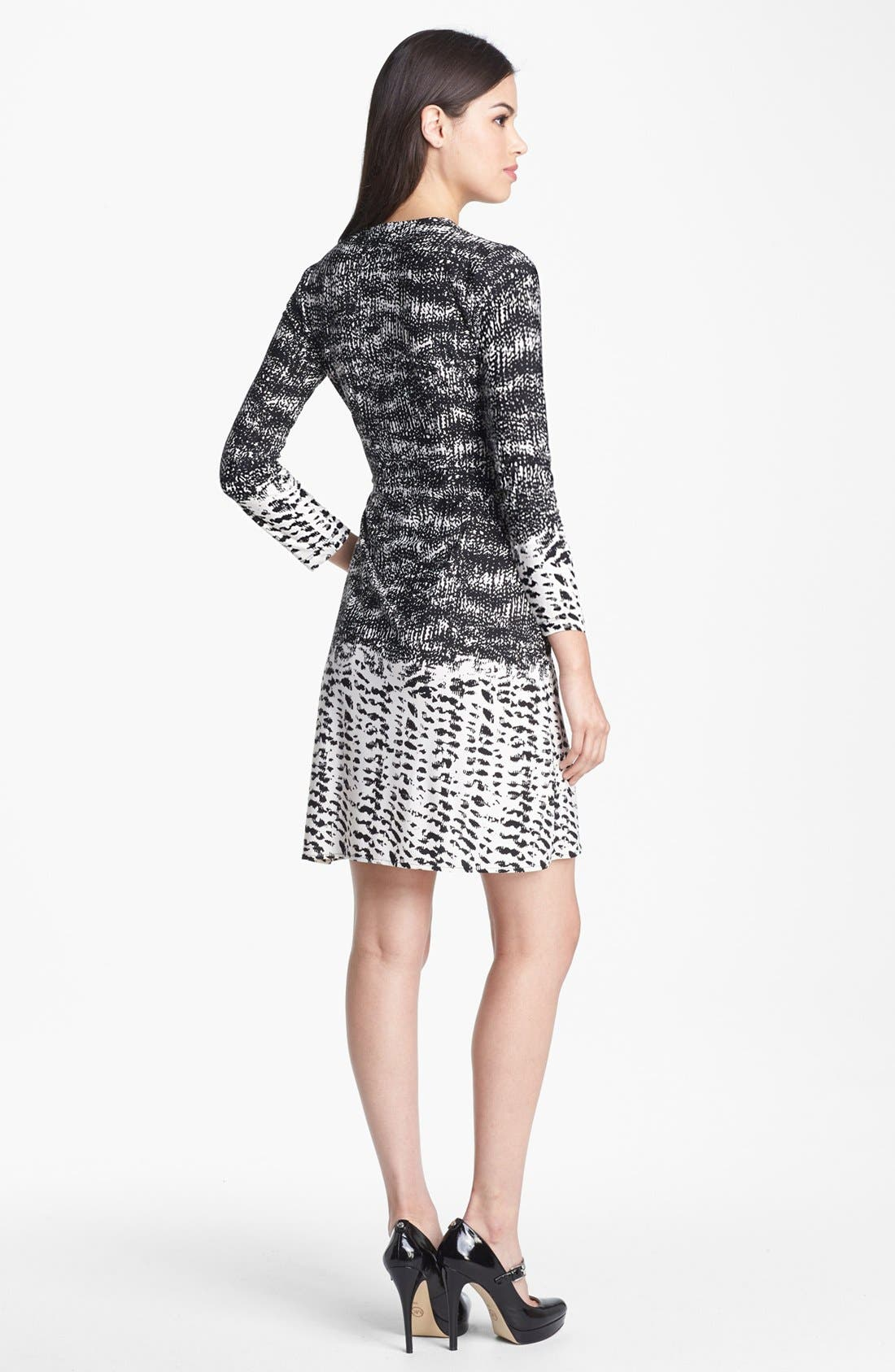 Alternate Image 2  - BCBGMAXAZRIA Print Jersey Wrap Dress (Petite)