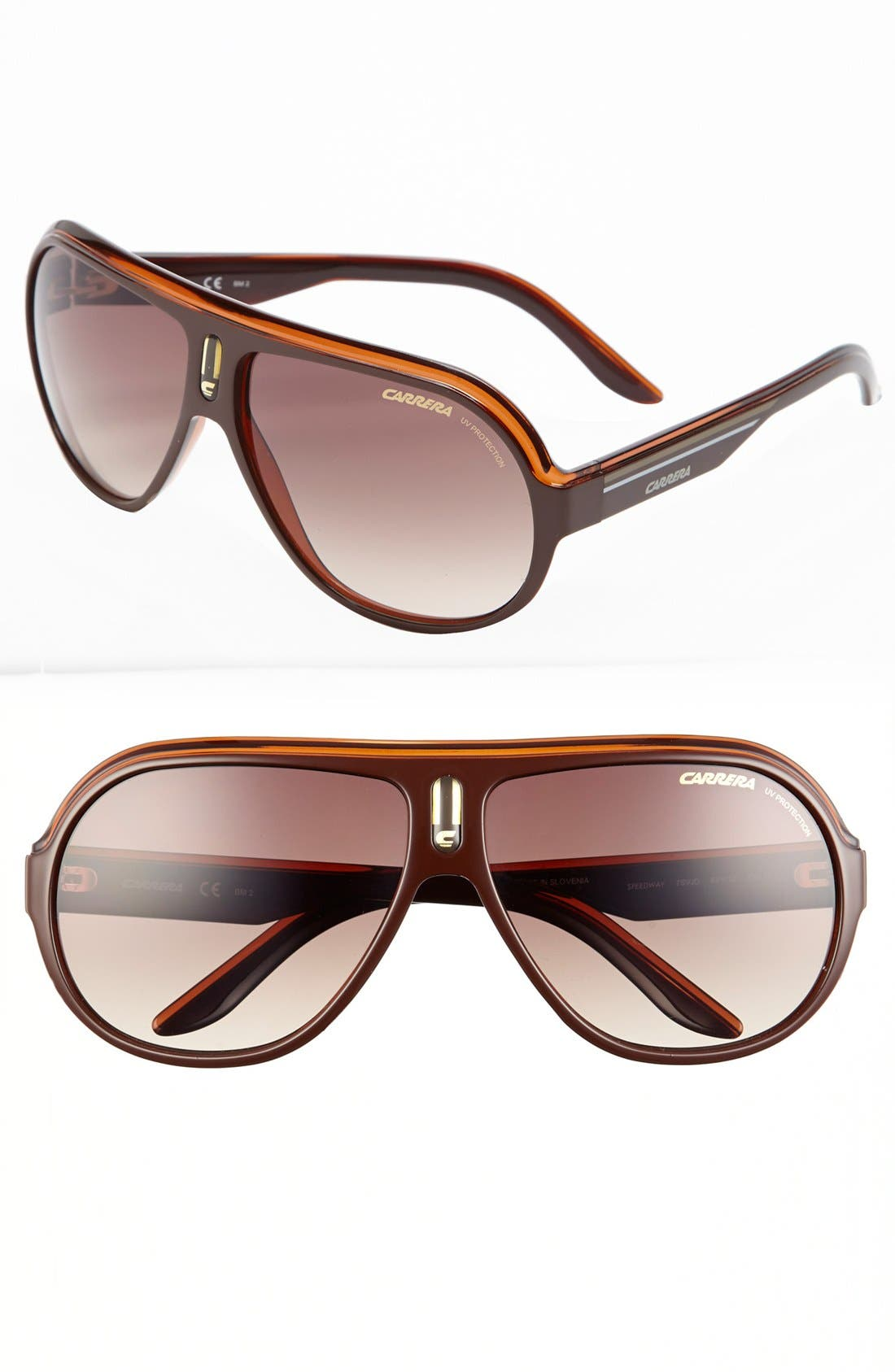 Alternate Image 1 Selected - Carrera Eyewear 'Speedway' 63mm Aviator Sunglasses