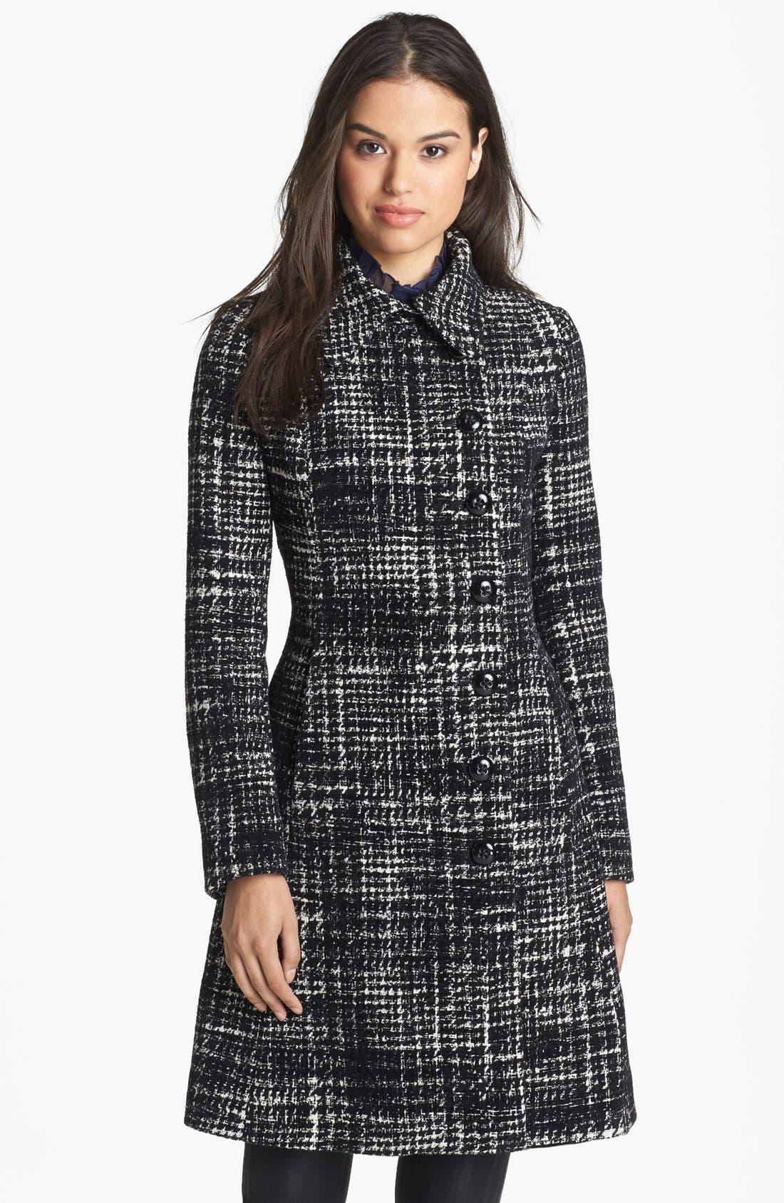 Main Image - Dawn Levy 'Eva' Plaid Tweed Coat