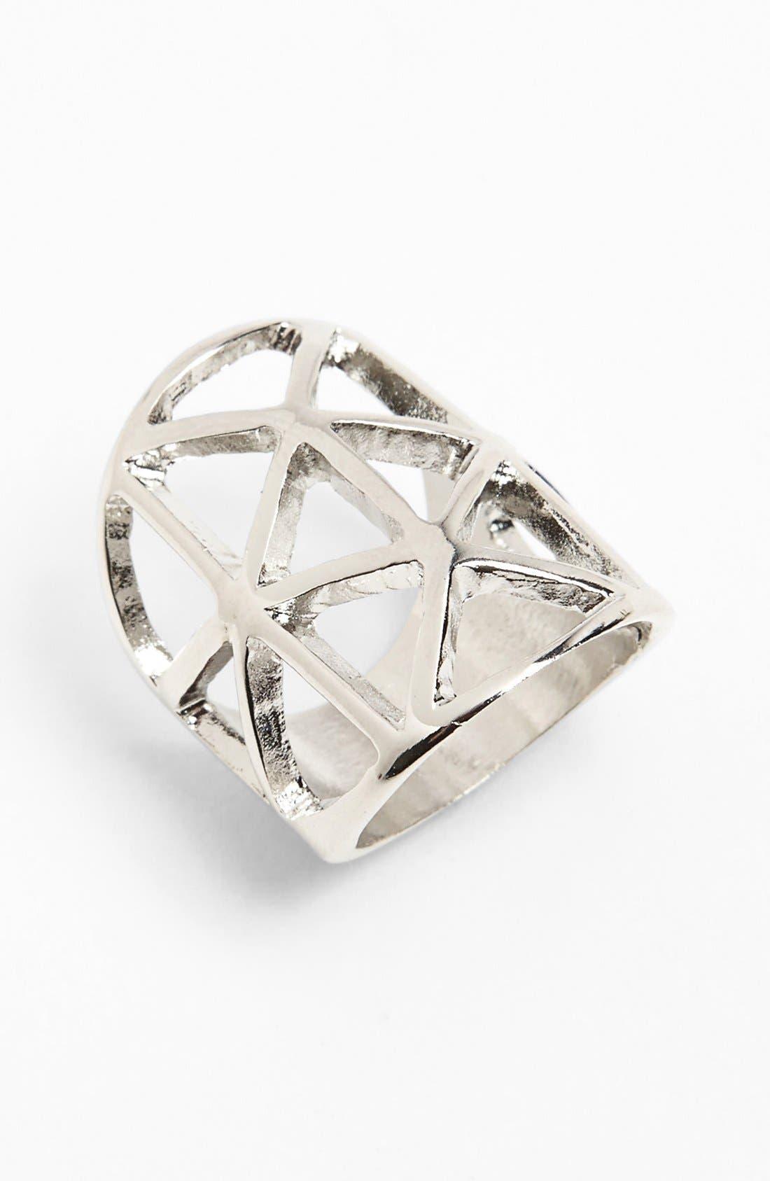 Alternate Image 1 Selected - BP. Open Metalwork Ring (Juniors)