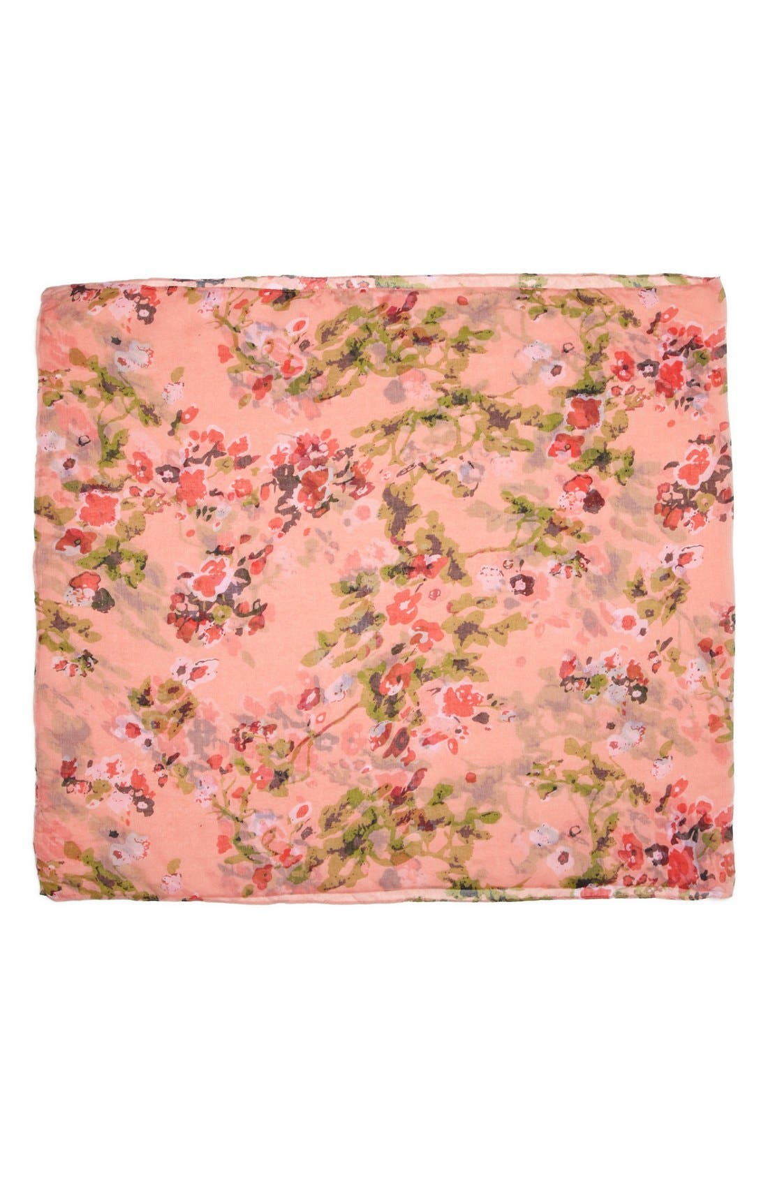 Alternate Image 2  - David & Young 'Ditsy Cherry Blossom' Infinity Scarf (Juniors) (Online Only)