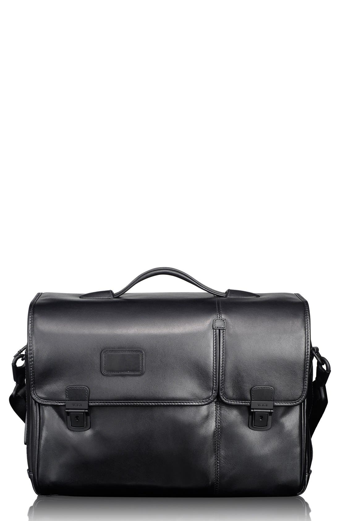 Alternate Image 1 Selected - Tumi 'Alpha' Split Flap Expandable Leather Briefcase