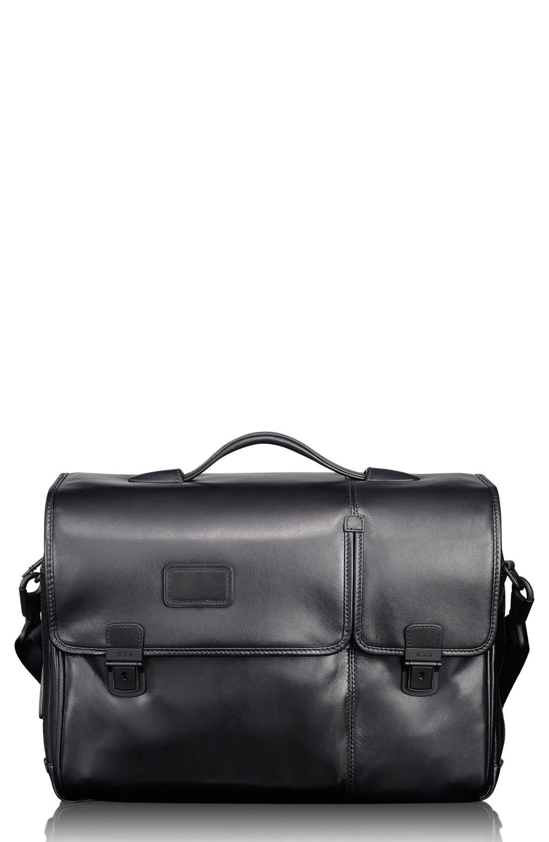 Main Image - Tumi 'Alpha' Split Flap Expandable Leather Briefcase