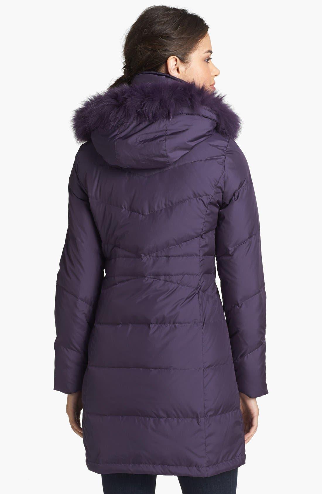 Alternate Image 2  - Ellen Tracy Genuine Coyote Fur Trim Down Coat (Nordstrom Exclusive)