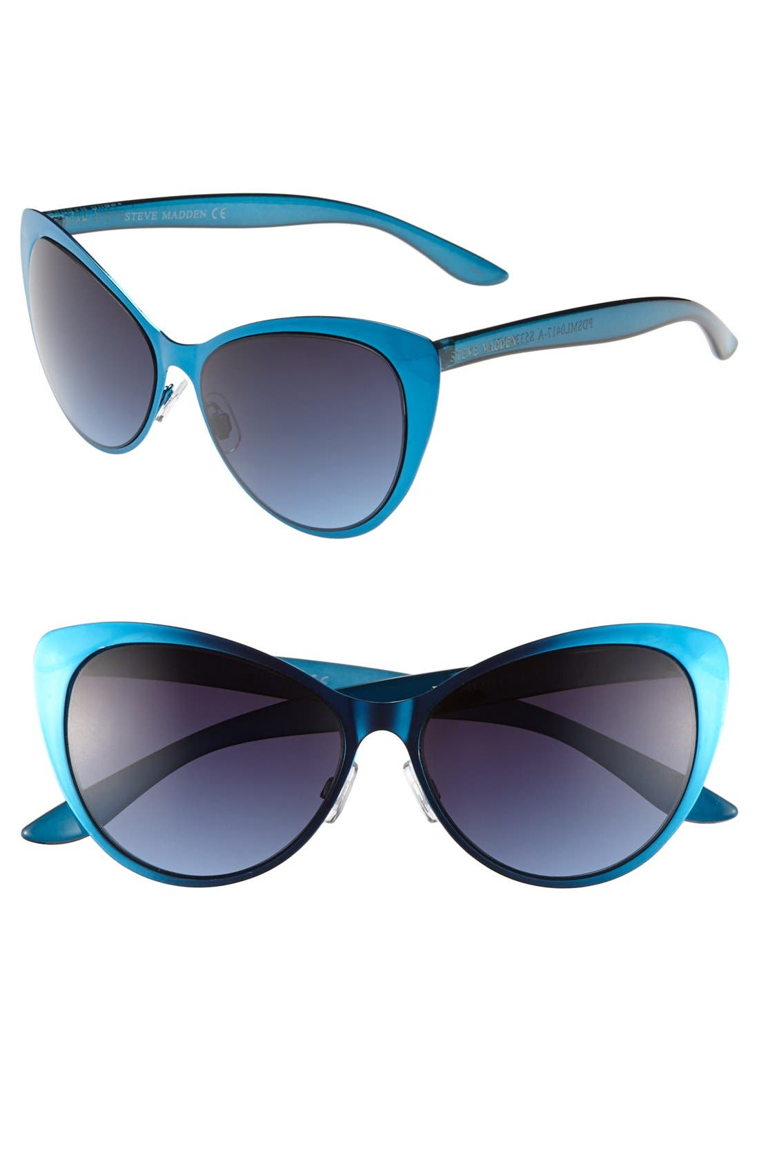 Alternate Image 1 Selected - Steve Madden 'Extreme' 65mm Cat Eye Sunglasses