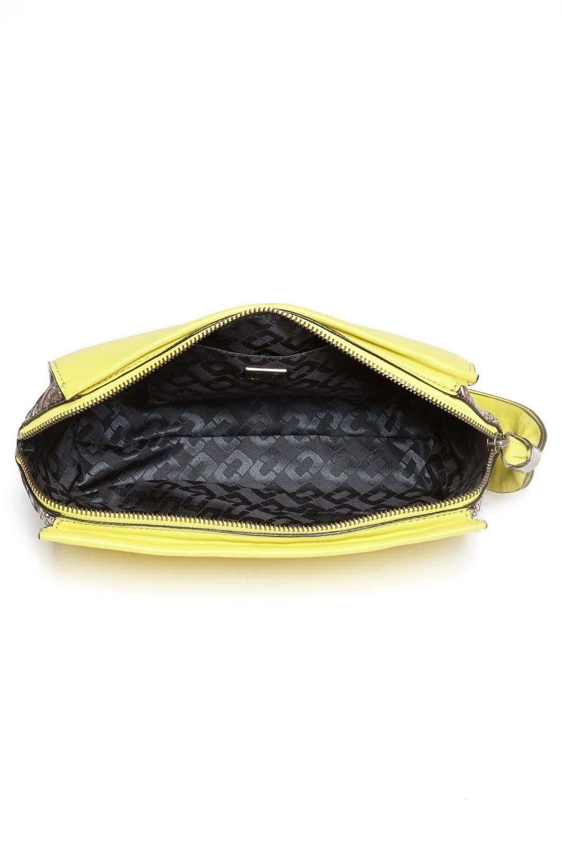 Alternate Image 3  - Diane von Furstenberg Leather & Snakeskin Clutch