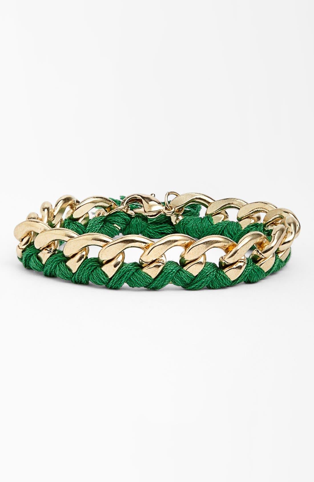 Alternate Image 1 Selected - Stephan & Co. Thread & Chain Bracelet (Juniors)