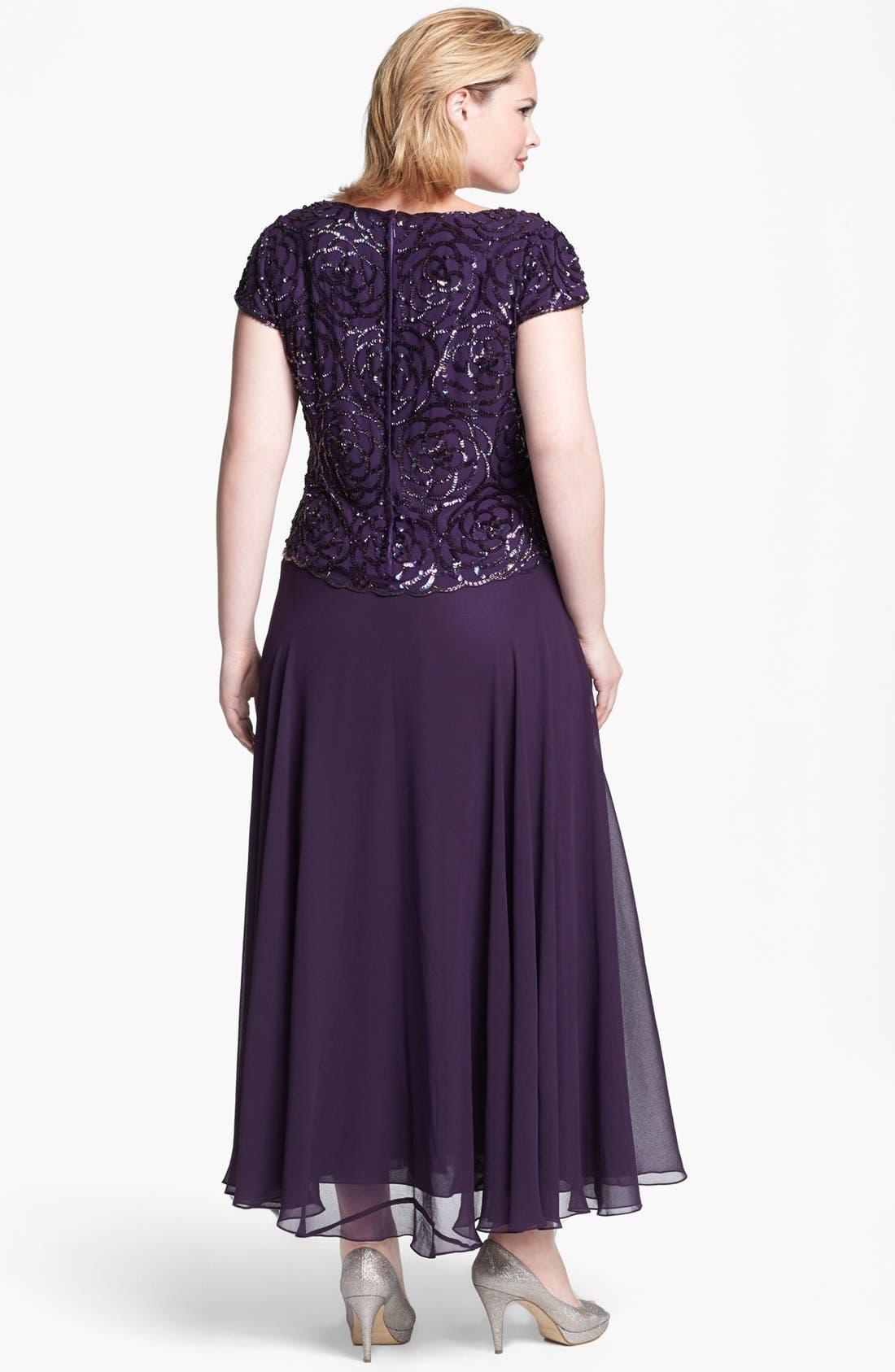Alternate Image 2  - J Kara Embellished Mock Two Piece Gown
