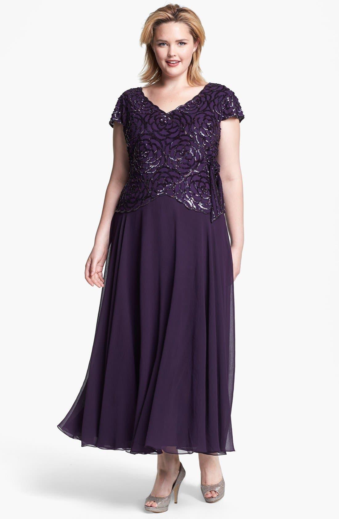 Alternate Image 1 Selected - J Kara Embellished Mock Two Piece Gown