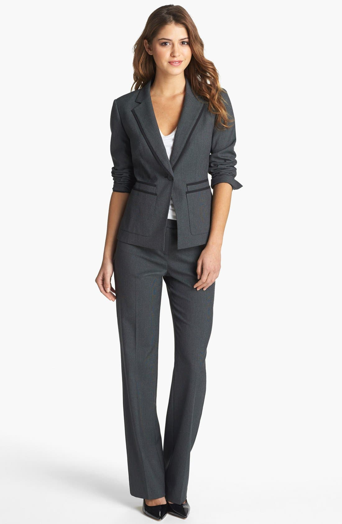 Alternate Image 4  - Halogen® 'Fox Hunt' Suit Jacket (Regular & Petite)