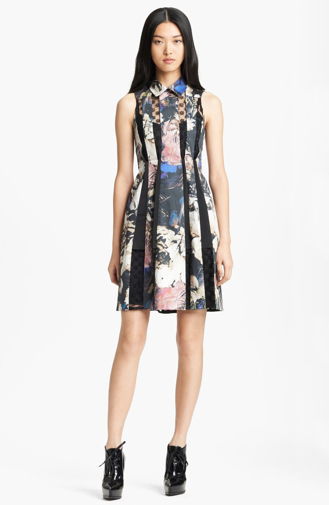 Main Image - Thakoon Lace Inset Floral Print Dress