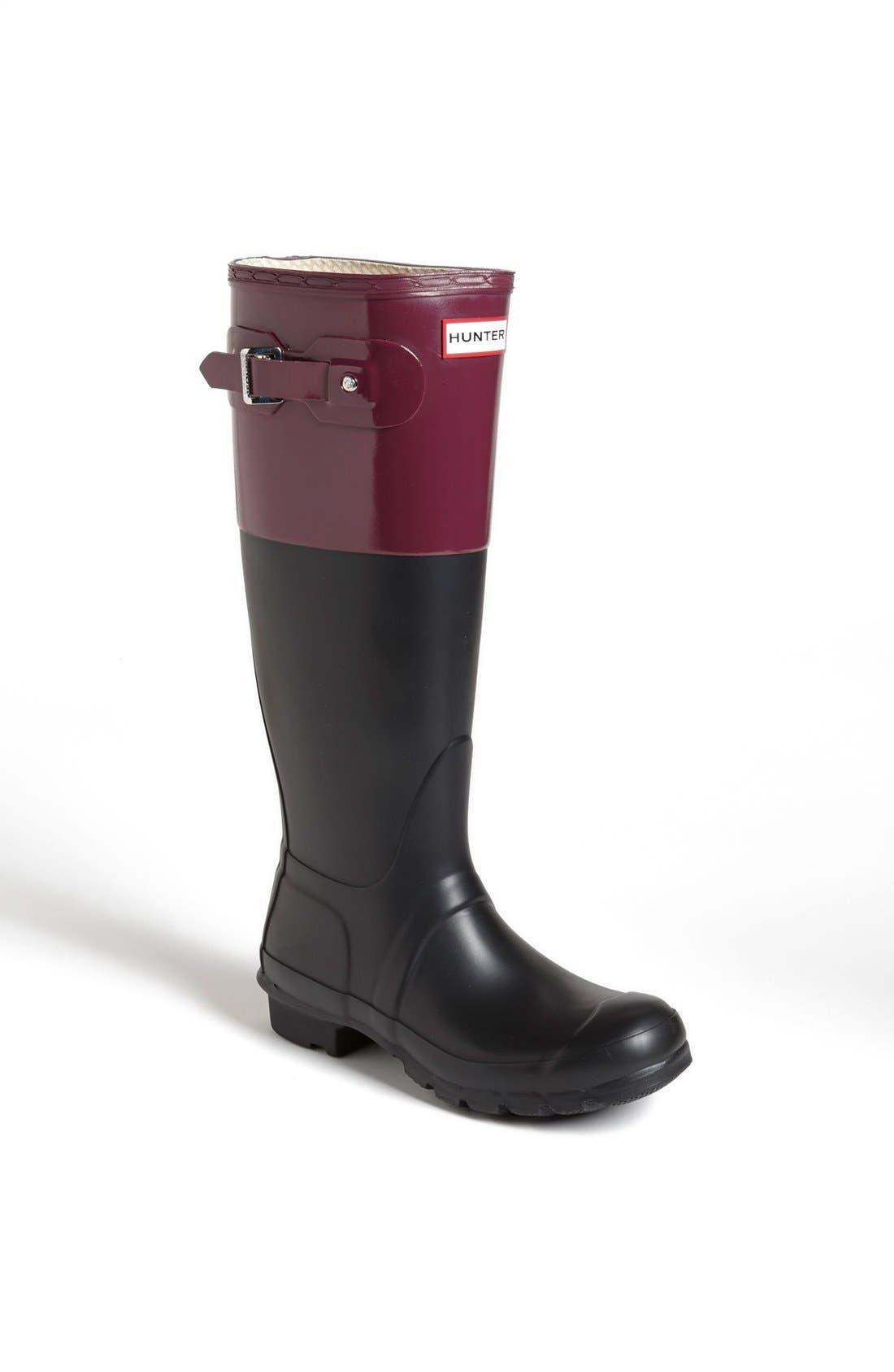 Main Image - Hunter 'Original Colorblock' Rain Boot (Women)
