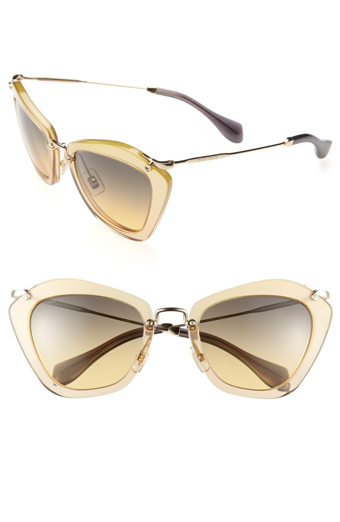Alternate Image 1 Selected - Miu Miu Noir 55mm Cat Eye Sunglasses