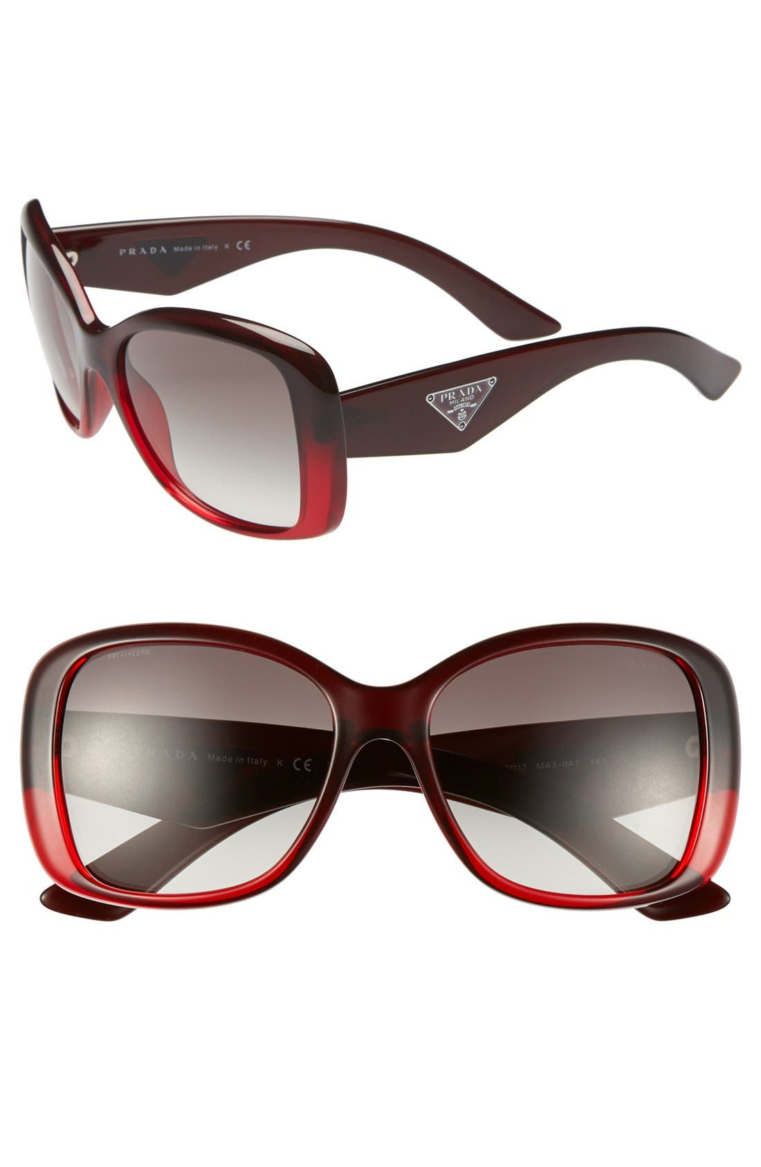 Main Image - Prada 57mm Oversized Sunglasses