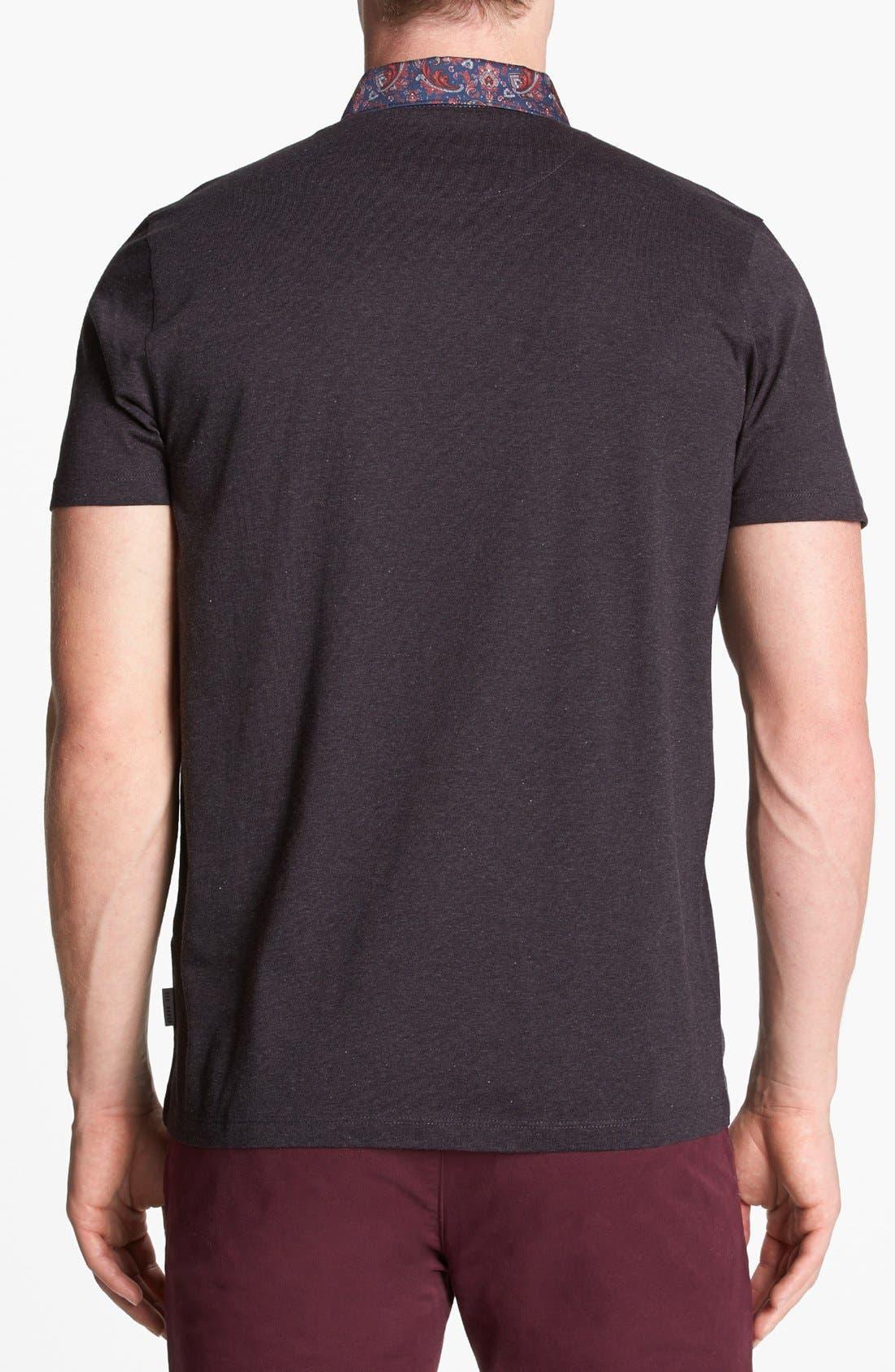 Alternate Image 2  - Ted Baker London Woven Collar Polo Shirt