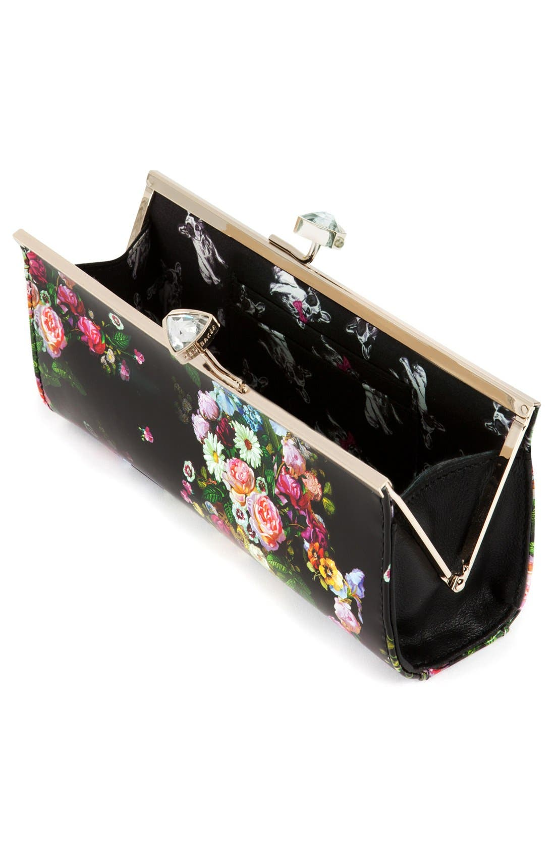 Alternate Image 2  - Ted Baker London Floral Print Crystal Bow Clutch