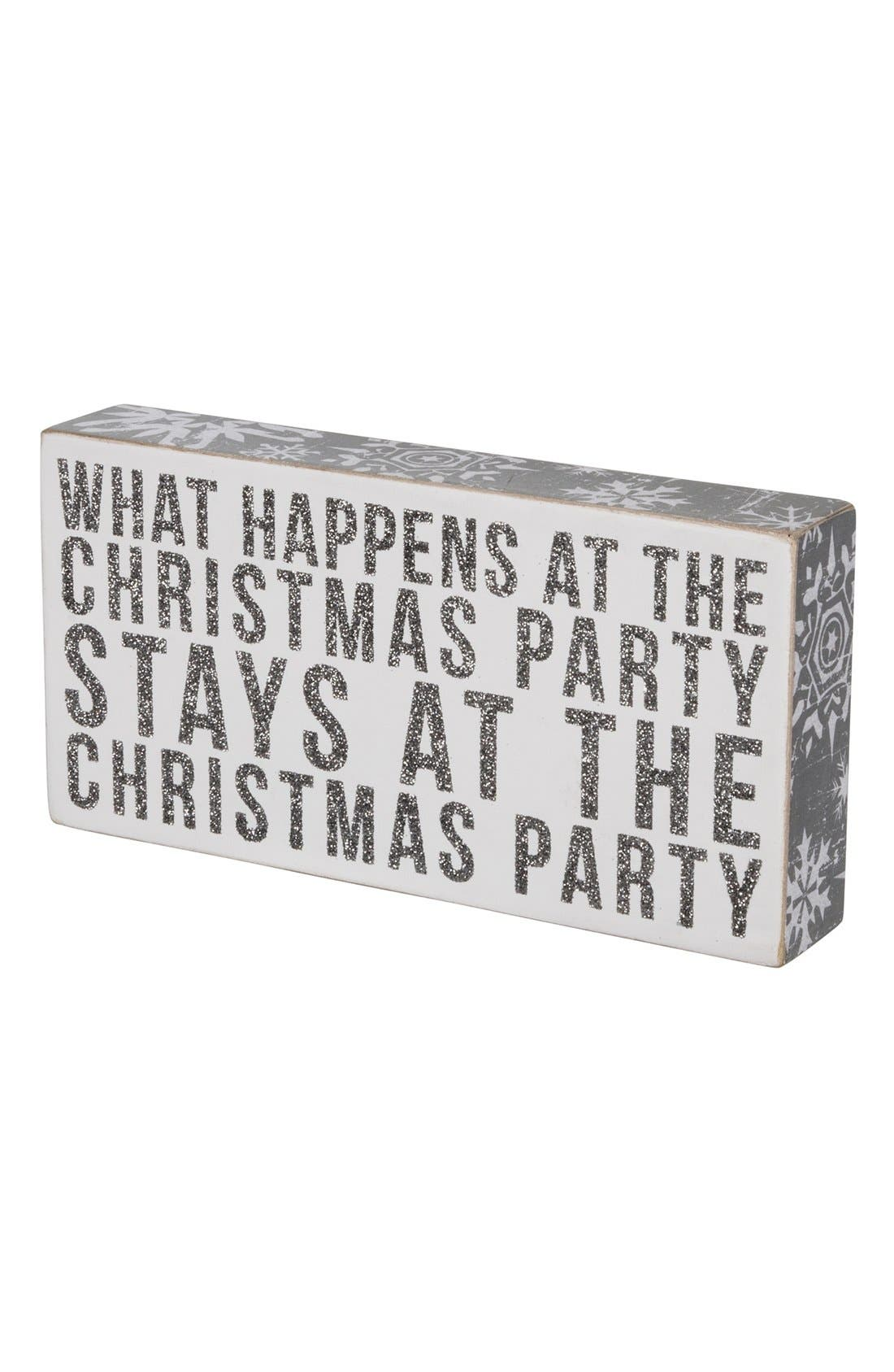 Alternate Image 2  - Primitives by Kathy 'Christmas Party' Box Sign