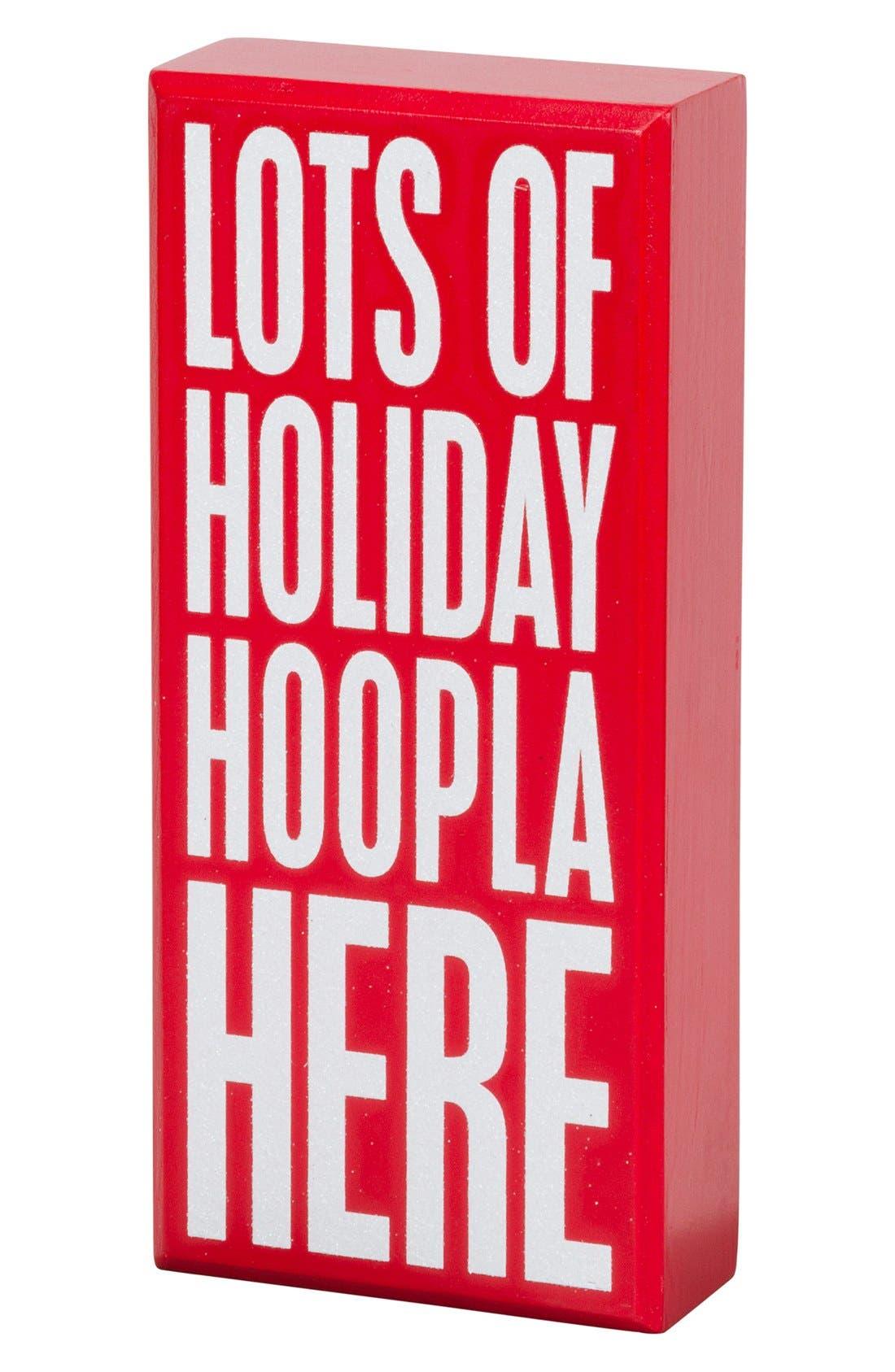 Alternate Image 2  - Primitives by Kathy 'Holiday Hoopla' Box Sign