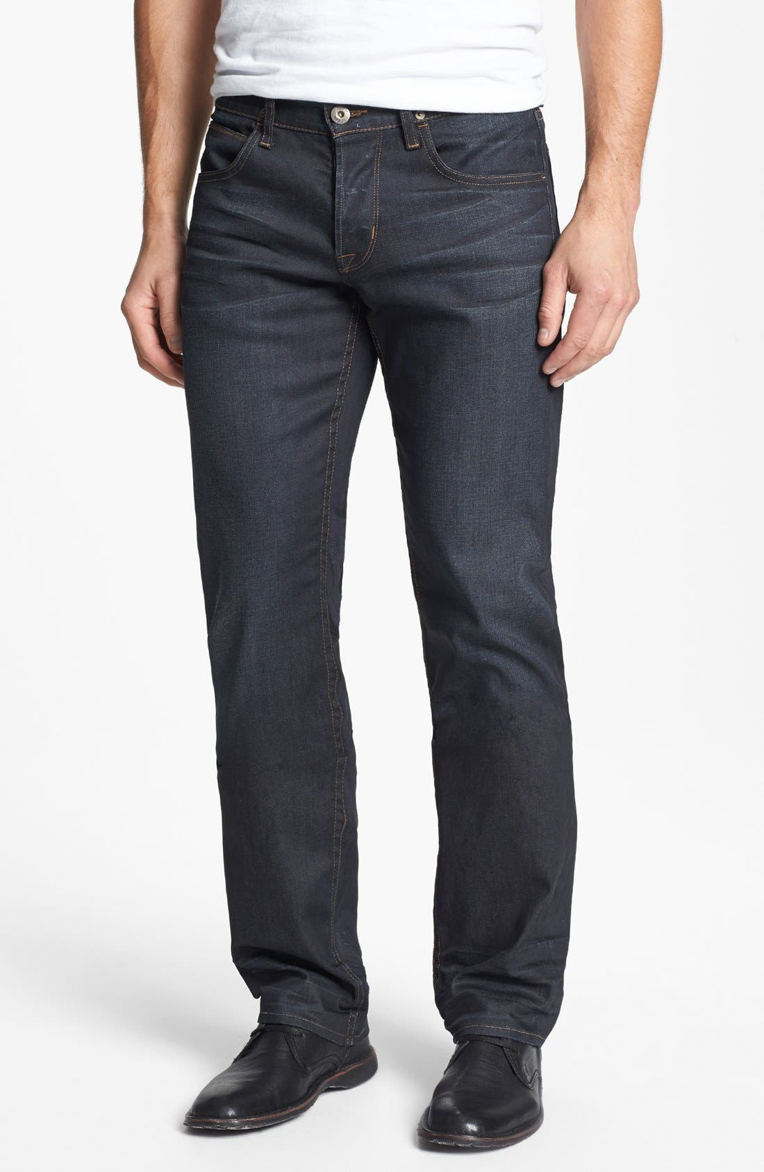 Alternate Image 1 Selected - Hudson 'Byron' Slim Straight Leg Jeans (Edges)