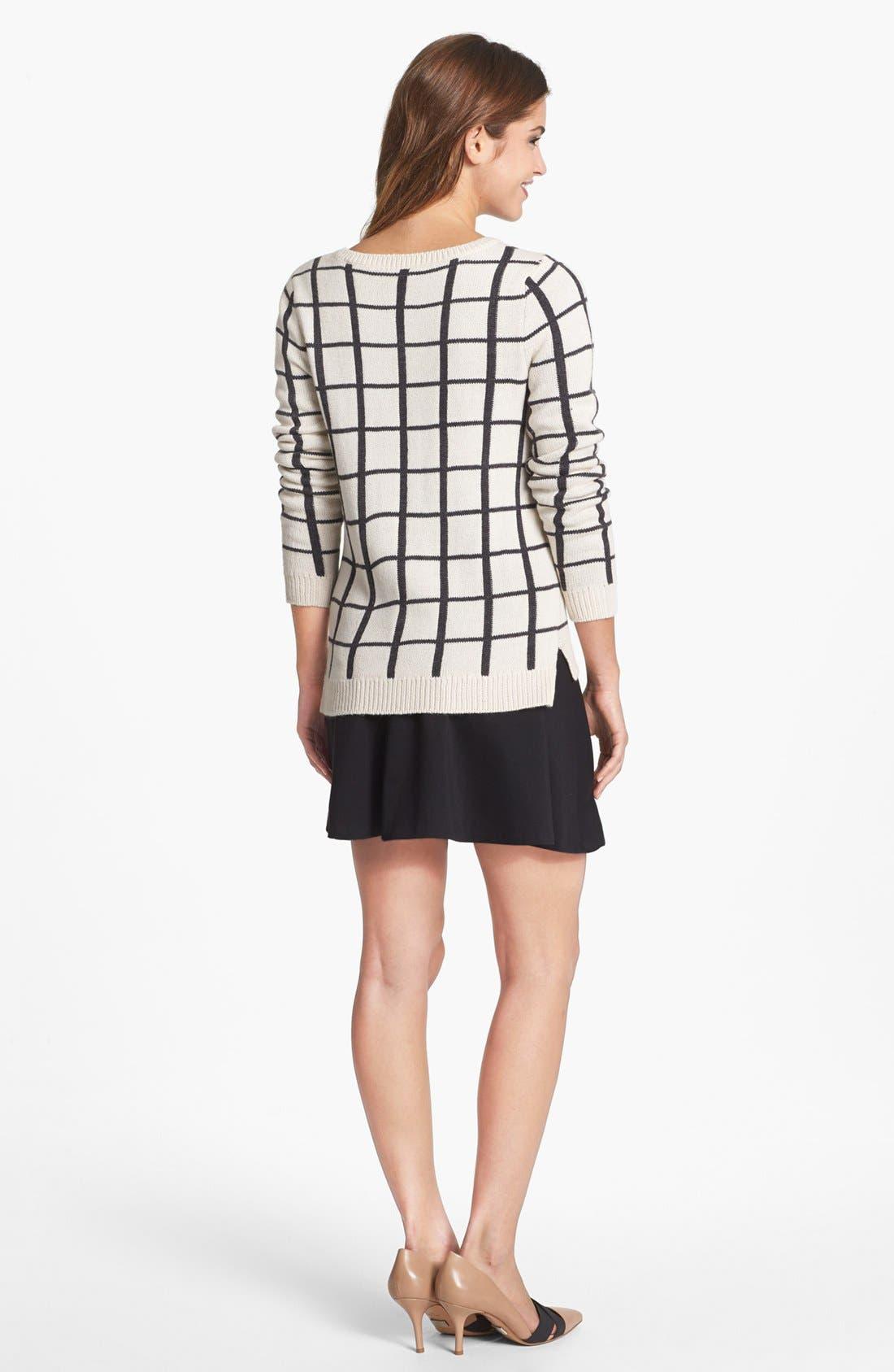 Alternate Image 2  - Olive & Oak Grid Pattern Sweater