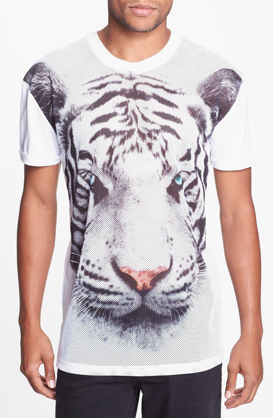 Alternate Image 1 Selected - Topman 'Tiger Sublimation' T-Shirt