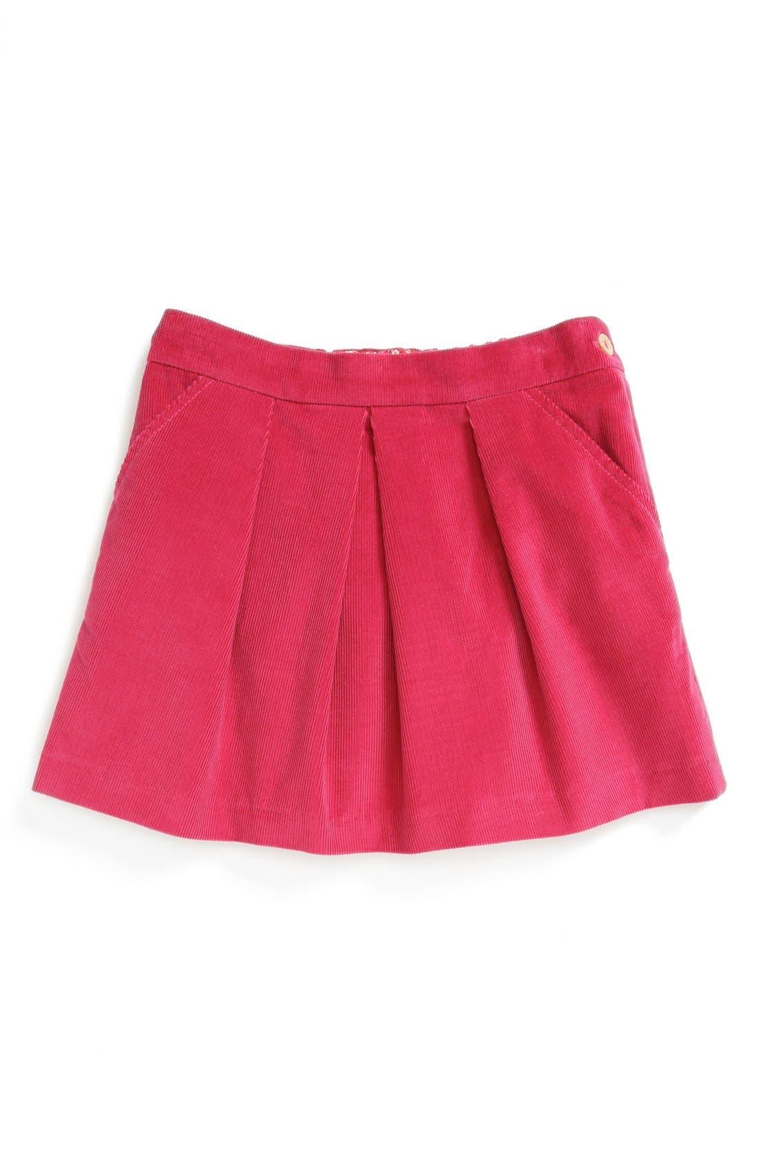 Main Image - Oscar de la Renta Corduroy Miniskirt (Little Girls & Big Girls)