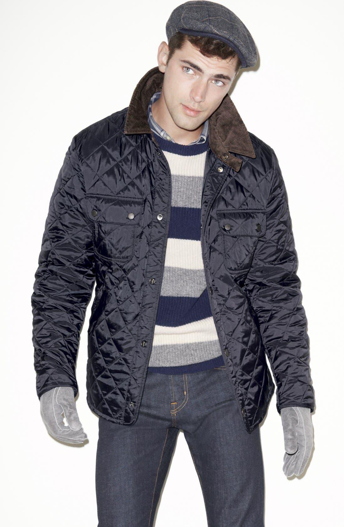 Alternate Image 1 Selected - Barbour Jacket, Gant Sweater & J Brand Skinny Fit Jeans