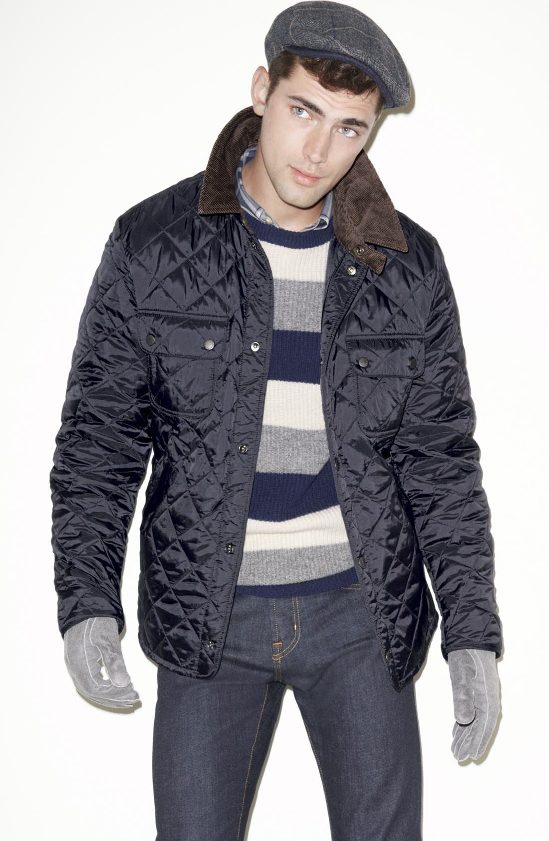 Main Image - Barbour Jacket, Gant Sweater & J Brand Skinny Fit Jeans