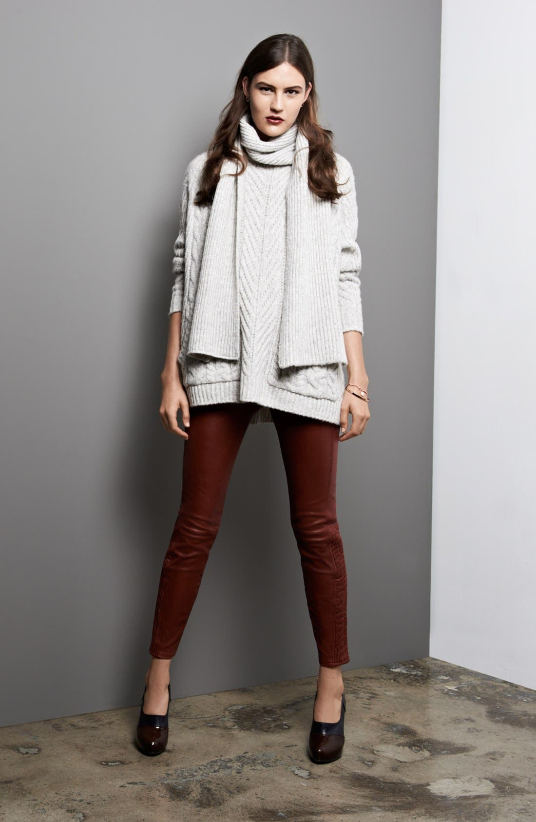 Alternate Image 4  - MARC BY MARC JACOBS 'Connolly' Crew Neck Sweater with Scarf