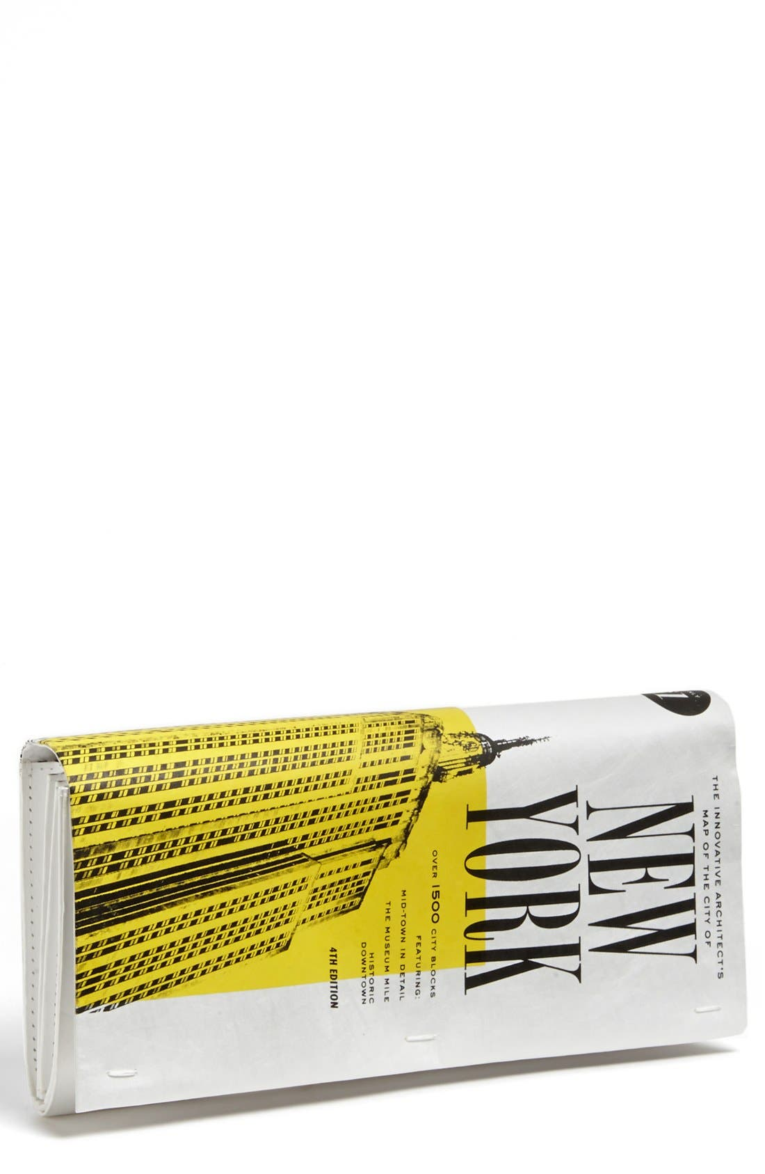 Alternate Image 1 Selected - kate spade new york 'far from the tree - nyc map' clutch