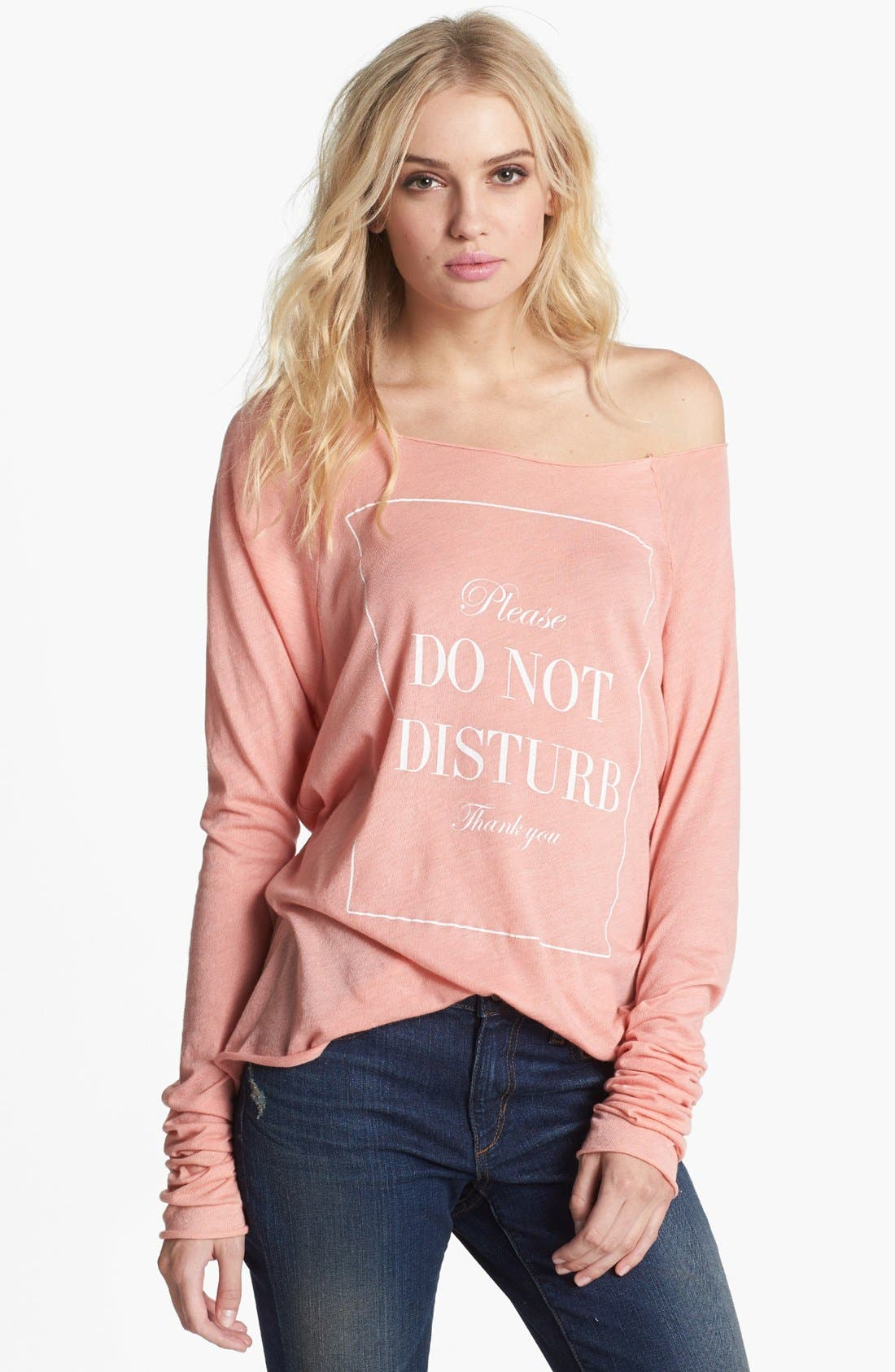 Main Image - Wildfox 'Do Not Disturb' Raglan Sleeve Top